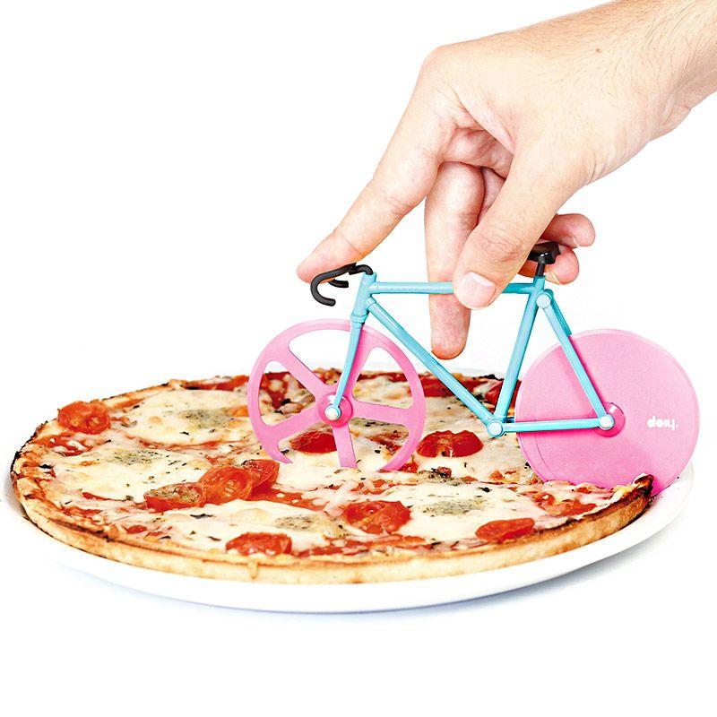 Doiy Нож для пиццы Fixie мята/розовый