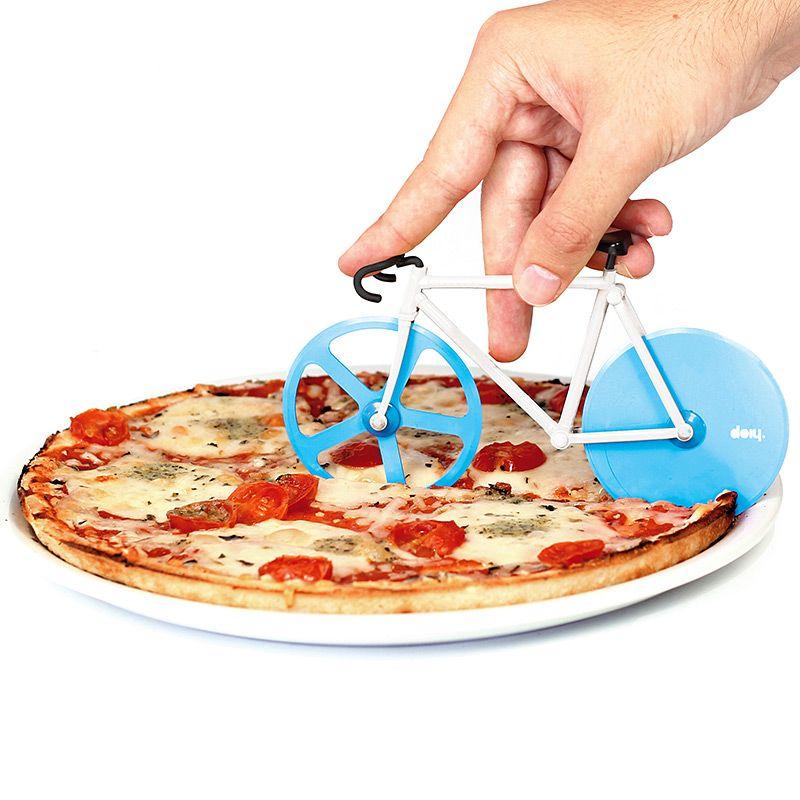 Doiy Нож для пиццы Fixie голубой/белый