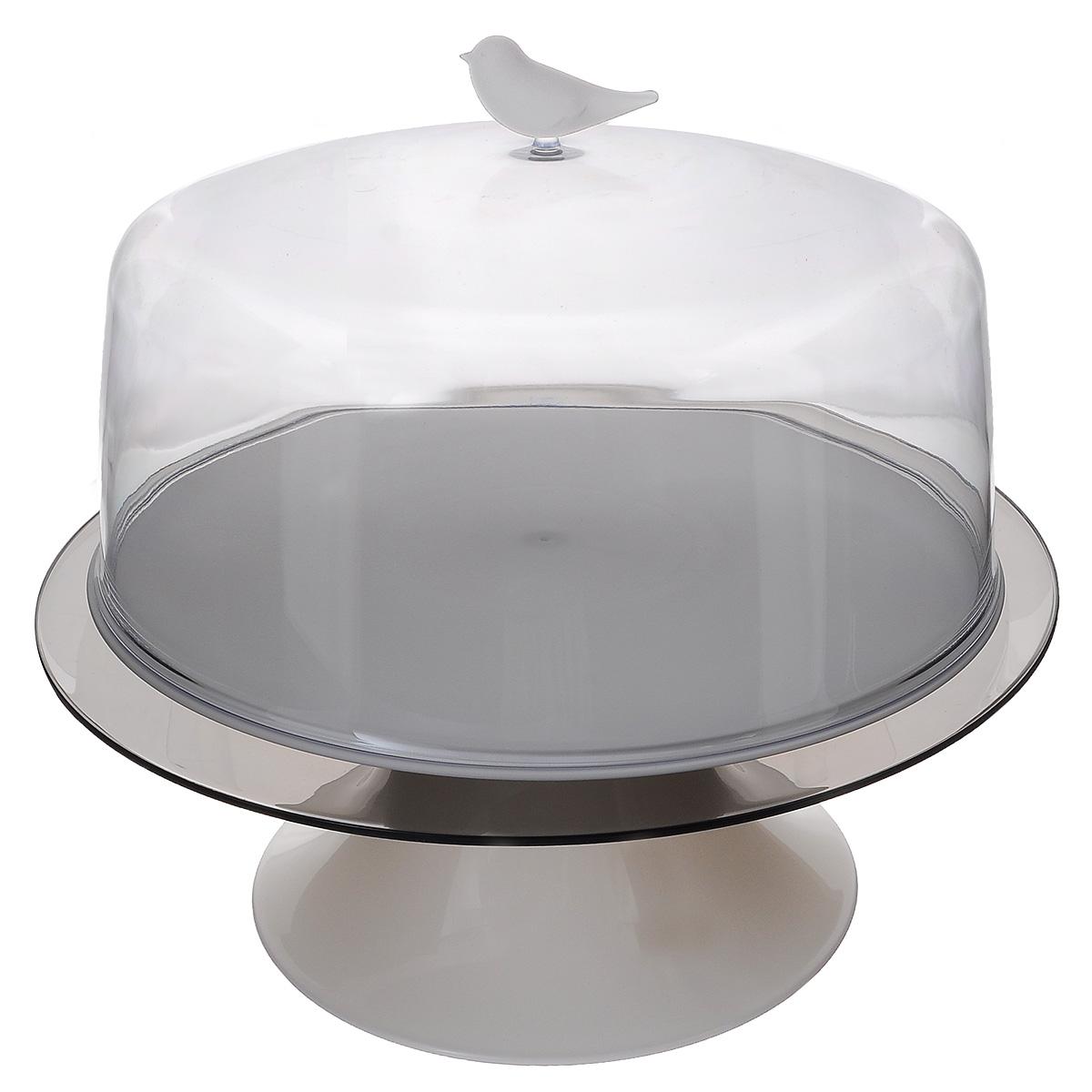Тортовница Qualy Sparrow, диаметр 28,5 смQL10189-WHКрасивая тортовница Qualy Sparrow, изготовленная из высококачественного ABS пластика, решает проблему подачи тортиков и самодельных пирогов. Плюс ко всему, она идеальна для хранения: вкусности внутри не заветрятся, на них случайно не попадет грязь, а домашние животные не стащат ни кусочка. Можно использовать для блинов, пирожных, нарезанных фруктов, тарталеток и других десертов. Изделие состоит из двух подносов (верхнего и нижнего), подставки и крышки, декорированной фигуркой птички. Диаметр верхнего подноса: 28,5 см. Диаметр нижнего подноса: 33,5 см. Высота подставки: 13 см. Диаметр крышки: 29,5 см. Высота крышки: 16,5 см.