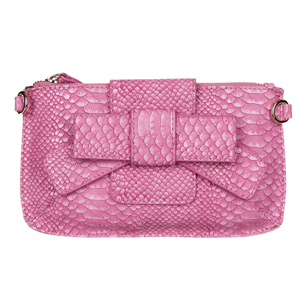 Сумка женская Baggini, цвет: розовый. 35012/6335012/63Сумка жен. ,иск. Кожа