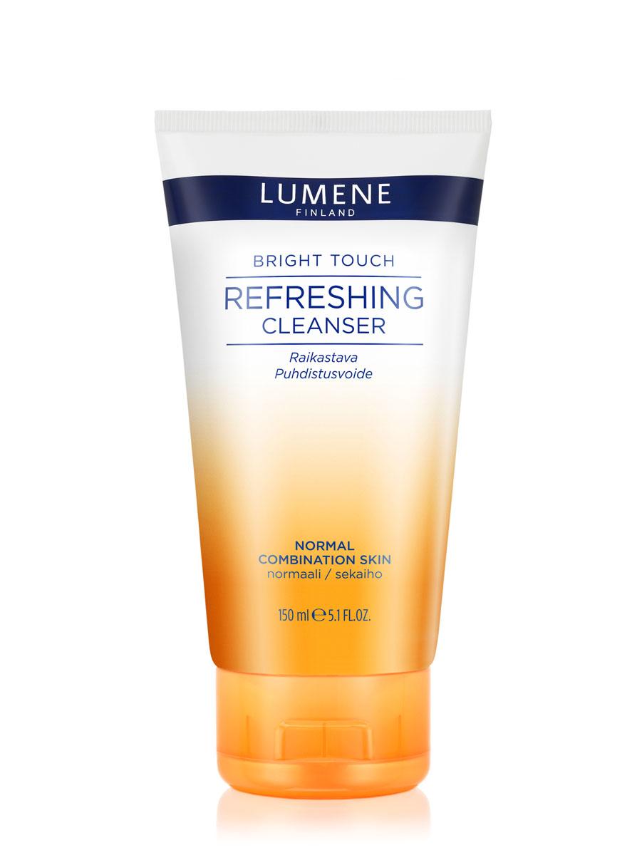 LUMENE Освежающий очищающий крем для умывания Bright TouchNL50-81301С маслом семян арктической морошки Для нормальной и комбинированной кожи Эффективно очищает кожу от макияжа и загрязнений, заряжает энергией и способствует обновлению клеток. Результат – чистая, свежая и сияющая кожа.