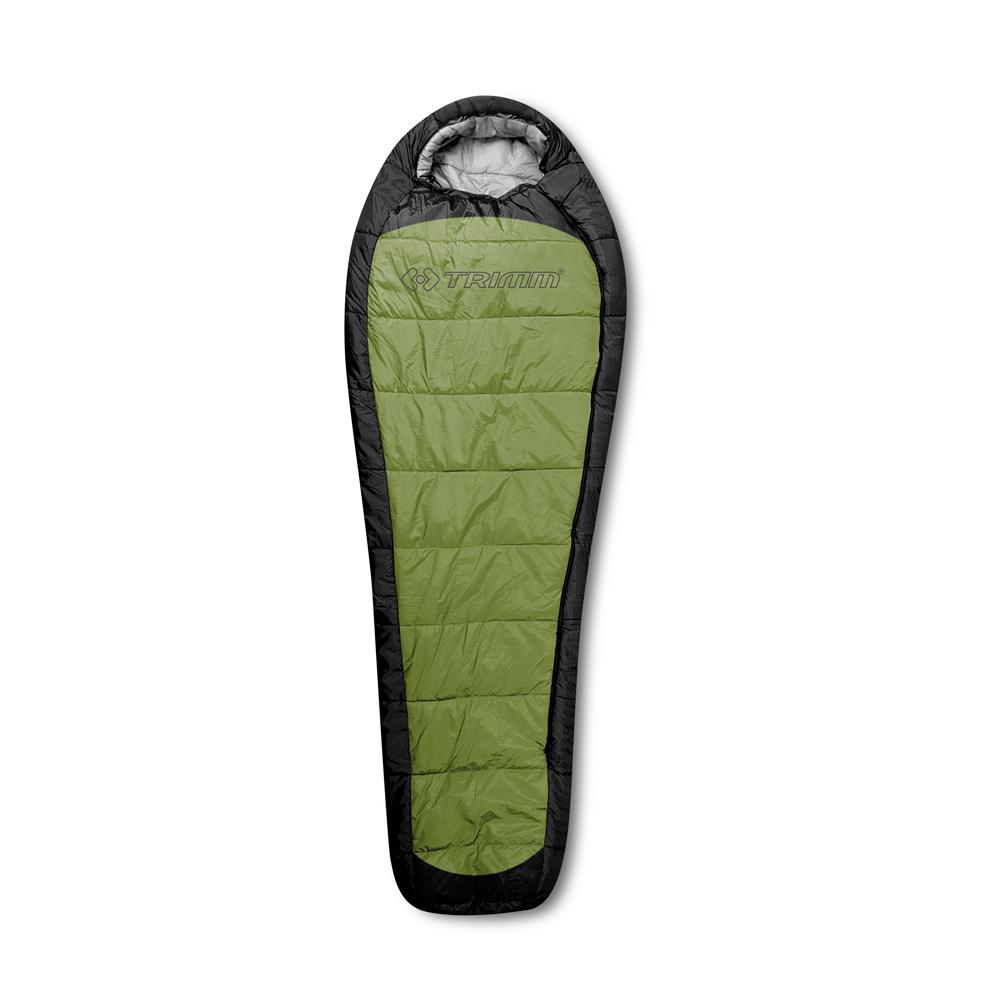 Спальный мешок Trimm Impact, правосторонняя молния, цвет: зеленыйR36970Trimm IMPACT - разновидность спального мешка, выполненного в форме кокона. Эта модель прекрасно подойдет для отдыха в теплое время года и будет отличным выбором для велосипедных прогулок, походов на байдарках и других видов активного отдыха. Спальный мешок Trimm IMPACT предназначен для отдыха, прежде всего, в теплое время года. Особенностями этой модели можно назвать ее легкий вес и компактность после укладки. Производителем заявлена возможность парного соединения, когда два спальника можно объединить в один двухместный. Согласно стандарту EN 13537 спальник Trimm IMPACT с комфортом используется при температуре внешней среды не ниже 4°C, однако, на крайний случай можно использовать и при - 10°С. Эта модель может складываться в компрессионный мешок, после чего ее размер составляет 15 см х 25 см х 19 см, что, несомненно, будет преимуществом при выборе из нескольких спальников. В разложенном состоянии размеры спального мешка таковы: длина - 230...