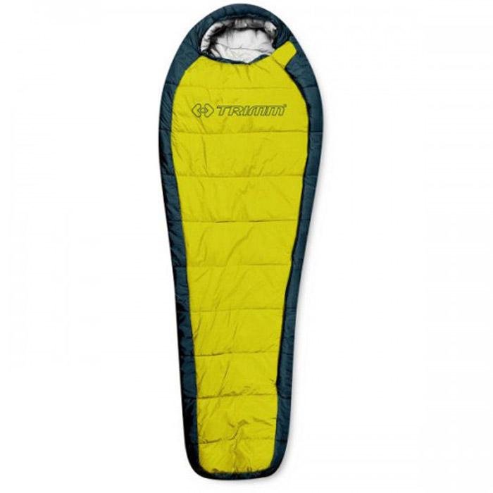 Спальный мешок Trimm Highlander, правосторонняя молния, цвет: желтыйR36965Спальный мешок Trimm HIGHLANDER - традиционный вариант спальника-кокона. Эта модель подходит для использования осенью и весной, и будет отличным выбором для всех людей, предпочитающих активный отдых на природе. Производителем Trimm спальный мешок HIGHLANDER относится к серии Trekking, которая рекомендуется для условий с умеренно низкими температурами. Модель может быть использована в парном соединении, что поможет образовать двуспальный мешок. Спальник сертифицирован и согласно стандарту EN 13537 с комфортом может применяться при температуре окружающей среды до 3 градусов ниже нуля, однако, по заявлению фирмы-производителя, спальник может использоваться и в морозы до минус 20, правда, комфортным сон будет всего лишь на протяжении 6 часов. Спальный мешок Trimm HIGHLANDER можно сложить в сумку и после этого его размер станет минимальным (18 см х 34 см х 24 см). В раскрытом состоянии его габариты следующие: длина - 230 см, ширина - 58/85 см...