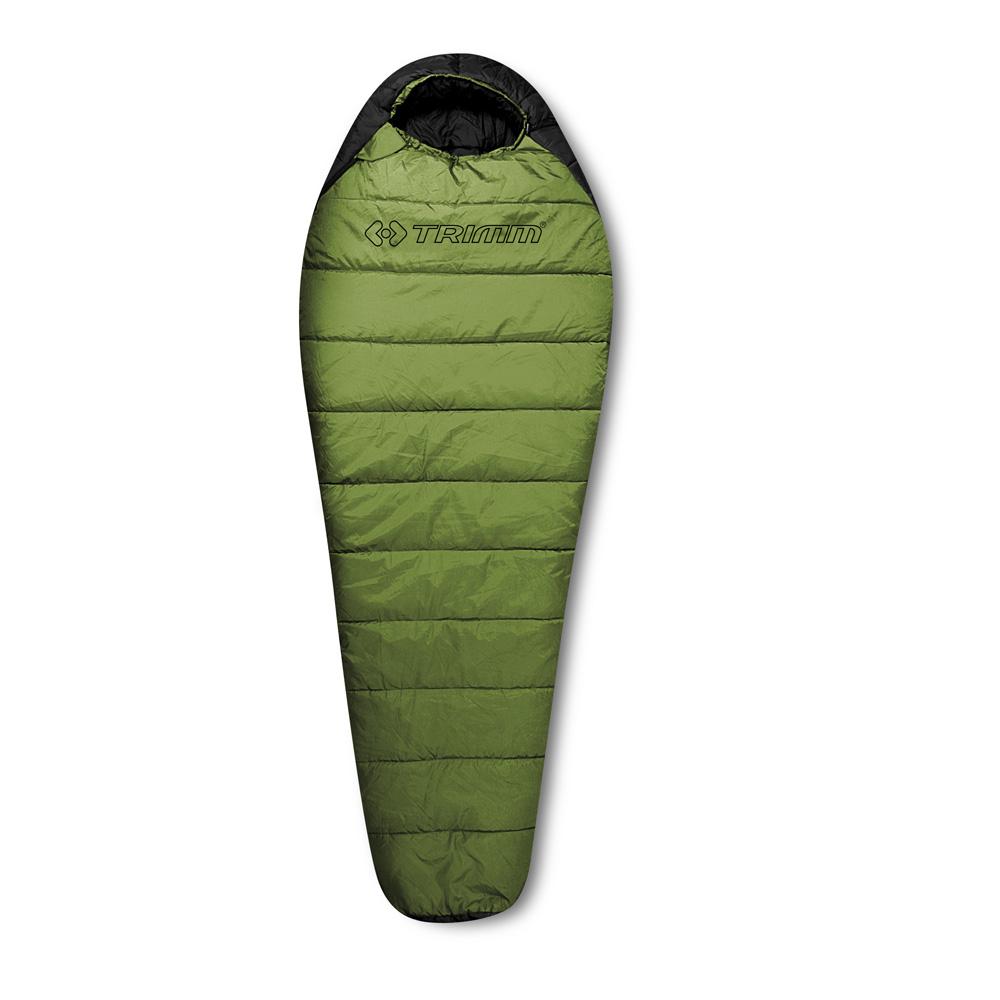 Спальный мешок Trimm WALKER, цвет: зеленый, левосторонняя молнияR36960Спальный мешок Trimm WALKER – классический вариант спального мешка анатомической формы «кокон» зеленого цвета. Прекрасно подойдет любителям активного отдыха на всем протяжении года, будет полезен и любителям пеших прогулок, и велотуристам. Спальный мешок WALKER от чешской фирмы Trimm относится к серии Trekking, которая предназначена для умеренно низких температур. Модель поддерживает возможность парного соединения спальных мешков, т.е. два спальника можно соединить и получить место для сна на двоих. В соответствии со стандартом EN 13537, эта модель предназначена для использования при температуре окружающей среды до 21 градуса мороза, но оптимальным комфорт будет при температуре воздуха до 4 градусов ниже нуля. Спальник Trimm WALKER складывается в походную сумку размерами 18 см*34 см*24 см. В состоянии для пользования модель имеет следующие габариты: длина – 230 см, ширина в ногах – 58 см, а в изголовье – 85 см. Это позволяет комфортно разместиться в спальнике человеку ростом до 195...