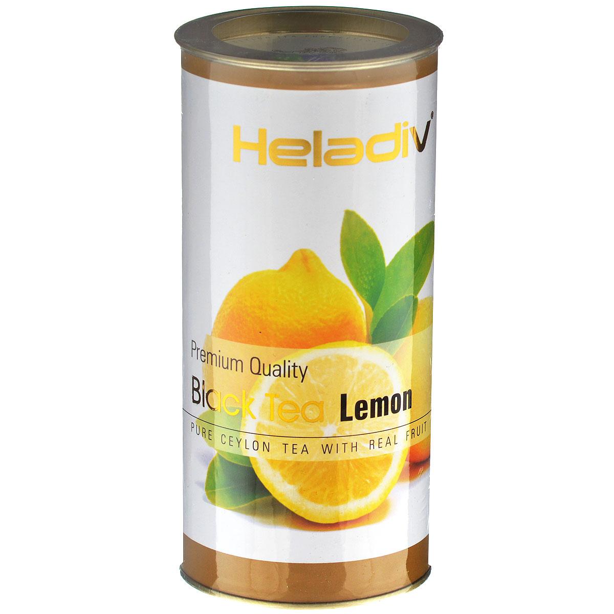 Heladiv Lemon черный фруктовый чай с лимоном, 100 г4791007004929Heladiv Lemon - настоящий цейлонский черный чай с натуральным ароматизатором лимона, кусочками лимонной цедры и цветами календулы.