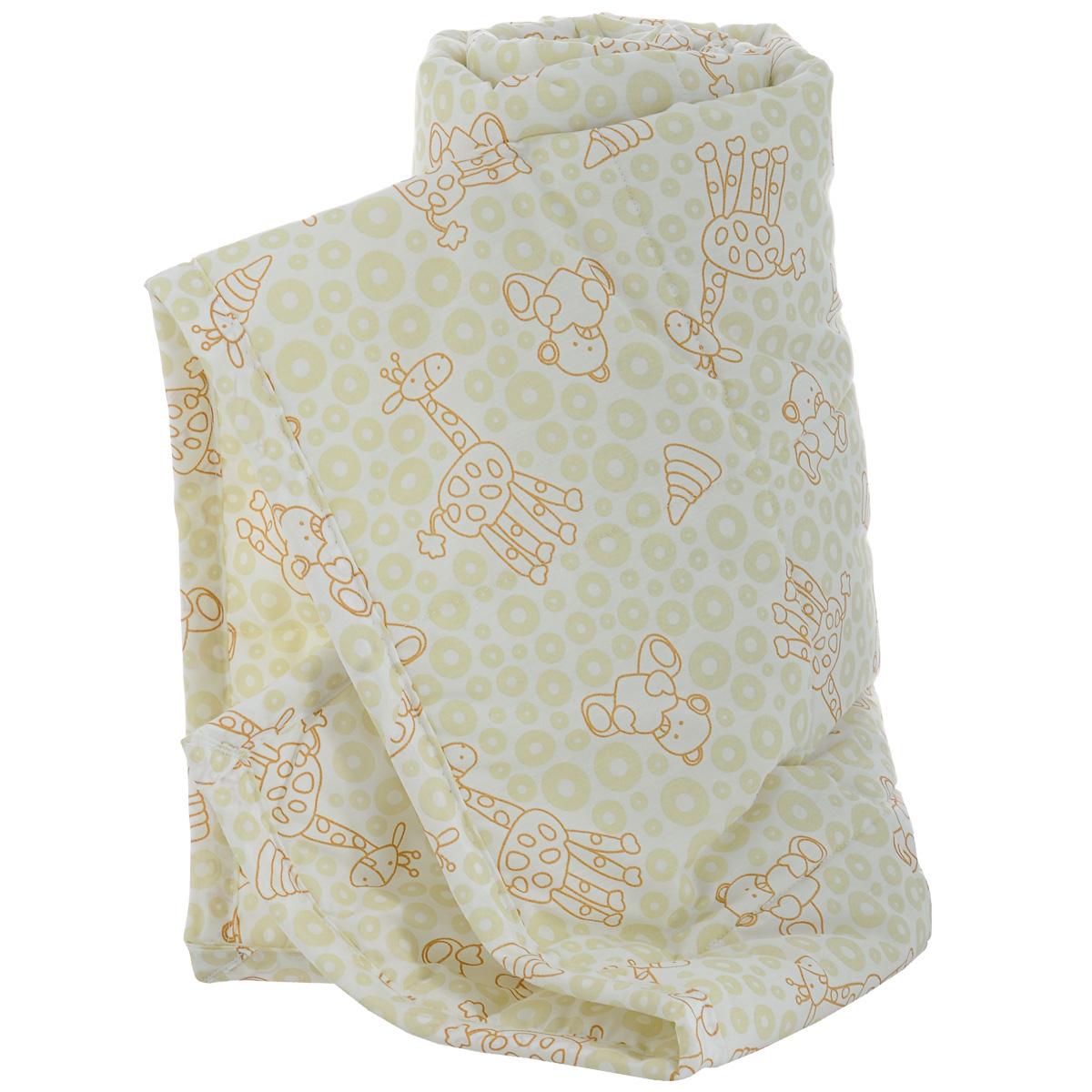 Одеяло детское Baby Nice Жирафы, стеганое, цвет: бежевый, 105 см x 140 см. Q0412123Q0412123
