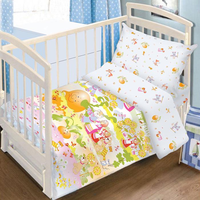 Комплект детского постельного белья Baby Nice Репка, цвет: голубой, 3 предметаC0115-3Детский комплект постельного белья Baby Nice Репка состоит из наволочки, пододеяльника и простыни на резинке. Такой комплект идеально подойдет для кроватки вашего малыша и обеспечит ему здоровый сон. Он изготовлен из натурального 100% хлопка, дарящего малышу непревзойденную мягкость. Натуральный материал не раздражает даже самую нежную и чувствительную кожу ребенка, обеспечивая ему наибольший комфорт. Простыня с помощью специальной резинки растягивается на матрасе. Она не сомнется и не скомкается, как бы не вертелся ребенок. Приятный рисунок комплекта, несомненно, понравится малышу и привлечет его внимание. На постельном белье Baby Nice Репка ваша кроха будет спать здоровым и крепким сном. В комплект входит подарок: книжка-раскраска по мотивам русских народных сказок.