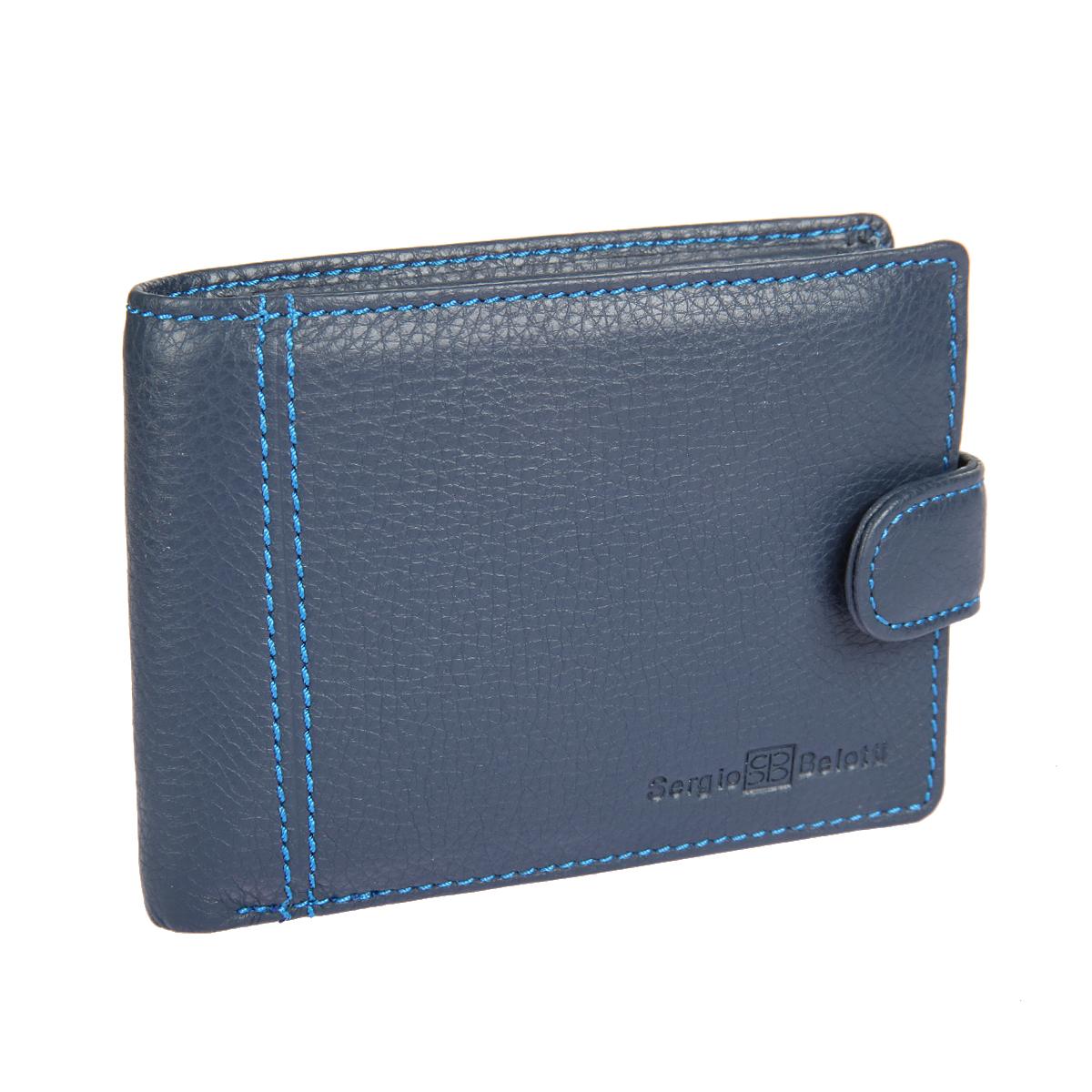 Портмоне мужское Sergio Belotti, цвет: синий. 533533 indigo jeansСтильное мужское портмоне Sergio Belotti выполнено из натуральной кожи с зернистой фактурой, оформлено декоративной строчкой и логотипом бренда. Изделие раскладывается и закрывается на хлястик с кнопкой. Внутри расположены: три отделения для купюр, одно из них закрывается на молнию, отделение для мелочи на кнопке, три потайных кармана, семь карманов для пластиковых карт, один сетчатый карман для пропуска, отделение для sim- карты. Такое портмоне станет отличным подарком для человека, ценящего качественные и необычные вещи.