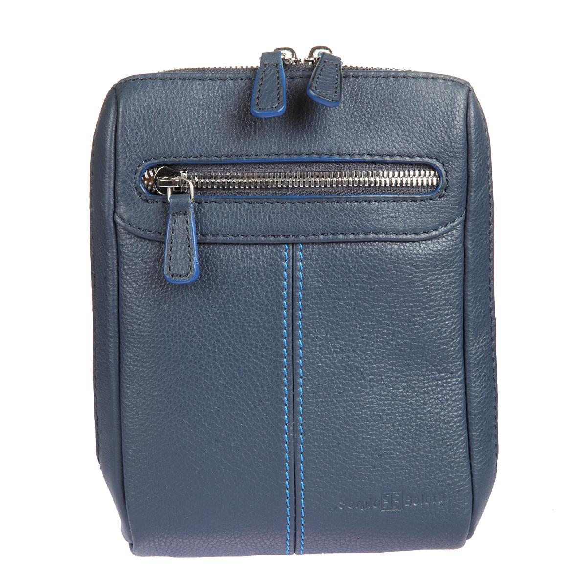 Планшет мужской Sergio Belotti, цвет: синий. 9137 indigo jeans9137-14 indigo jeansПланшет мужской Sergio Belotti выполнен из натуральной кожи синего цвета. Планшет имеет одно отделение, закрывающееся на двустороннюю молнию. Внутри два вшитых кармана на пластиковых молниях, накладной кармашек для мобильного телефона и четыре отделения для пластиковых карт. На лицевой стороне расположен вшитый карман на молнии. Планшет имеет плечевой ремень регулируемой длины, также к нему прилагается фирменный текстильный чехол для хранения. Этот стильный аксессуар станет изысканным дополнением к вашему образу и отличным подарком!
