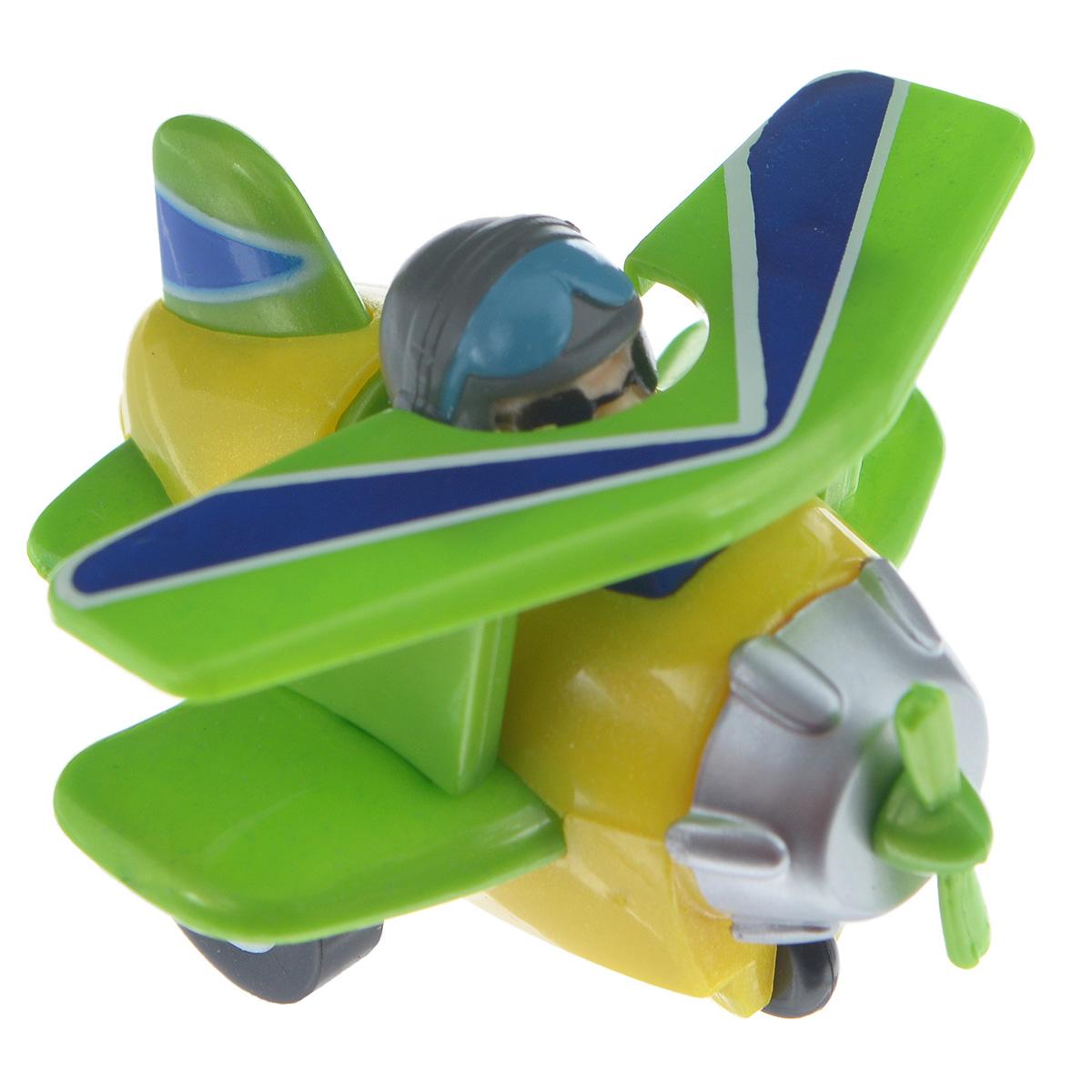 Hans Самолет инерционный цвет желтый зеленыйPP-3BD_ зеленый/желтыйИгрушка Hans Самолет привлечет внимание вашего малыша и не позволит ему скучать! Выполненная из безопасного пластика, игрушка представляет собой самолетик с пилотом. Для запуска, установите игрушку на поверхность, оттяните ее назад и отпустите, игрушка поедет вперед. Инерционная игрушка Hans Самолет поможет ребенку в развитии воображения, мелкой моторики рук, концентрации внимания и цветового восприятия.