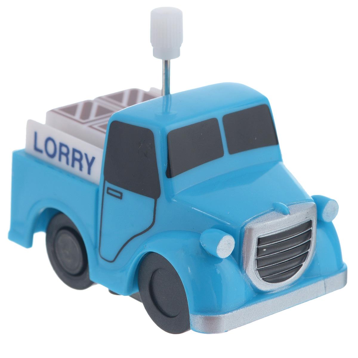 Игрушка заводная Грузовичок Lorry2K-012BD_ LorryИгрушка Hans Грузовичок Lorry привлечет внимание вашего малыша и не позволит ему скучать! Выполненная из безопасного пластика, игрушка представляет собой грузовичок. Игрушка имеет механический завод. Для запуска, придерживая колеса, поверните заводной ключ по часовой стрелке до упора. Установите игрушку на поверхность и она поедет вперед. Заводная игрушка Hans Грузовичок Lorry поможет ребенку в развитии воображения, мелкой моторики рук, концентрации внимания и цветового восприятия.