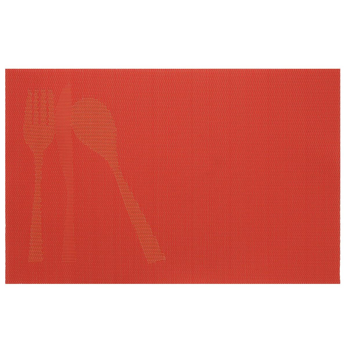 Подставка под горячее Amadeus, цвет: оранжевый, 44 х 29 см 28HZ-908528HZ-9085Прямоугольная подставка под горячее Amadeus выполнена из мягкого пластика и декорирована рисунком с изображением столовых приборов. Подставка не боится высоких температур и легко чистится от пятен и жира. Каждая хозяйка знает, что подставка под горячее - это незаменимый и очень полезный аксессуар на каждой кухне. Ваш стол будет не только украшен оригинальной подставкой с красивым рисунком, но и сбережен от воздействия высоких температур ваших кулинарных шедевров. Размер подставки: 44 см х 29 см.