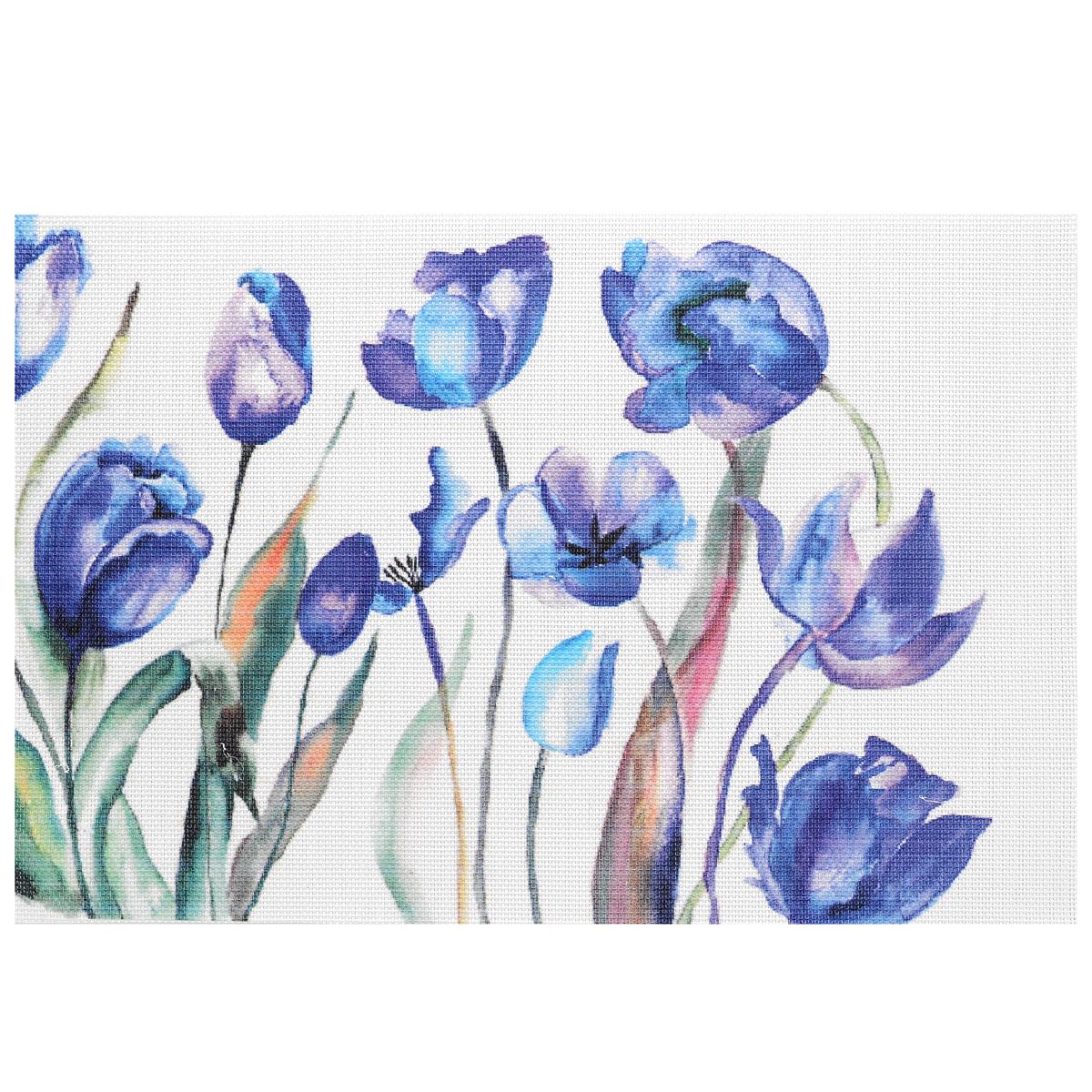 """Подставка под горячее Hans & Gretchen """"Синие цветы"""", 45 см х 30 см"""