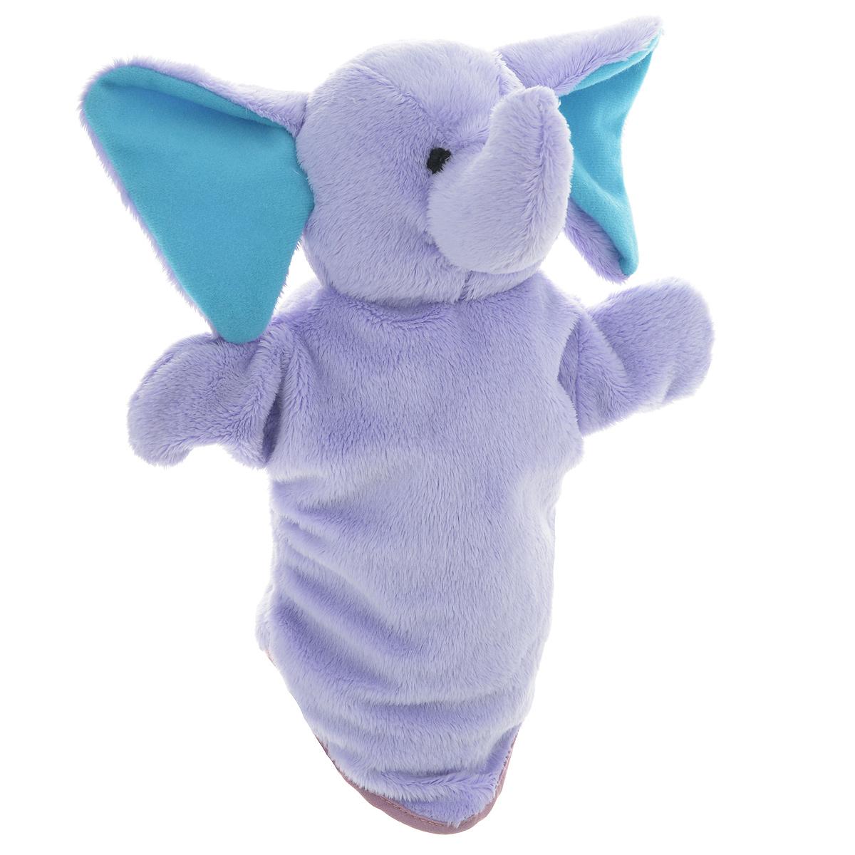 Мягкая игрушка на руку Слоненок сиреневый, 29 см16024Мягкая игрушка на руку Слоненок сиреневый непременно привлечет внимание малыша. Она легко надевается как на детскую руку, так и на взрослую. Игрушка удивительно мягкая и приятная на ощупь. Компания Bauer создала оригинальную серию персонажей, позволяющих собрать свой собственный кукольный театр. Ребенок сам сможет придумывать сценки, надевать кукол на руки, и ставить домашние кукольные спектакли. Таким образом, развивается фантазия ребенка, память, воображение, чувство юмора, умение анализировать ситуации - вымышленные или реальные, инсценированные.