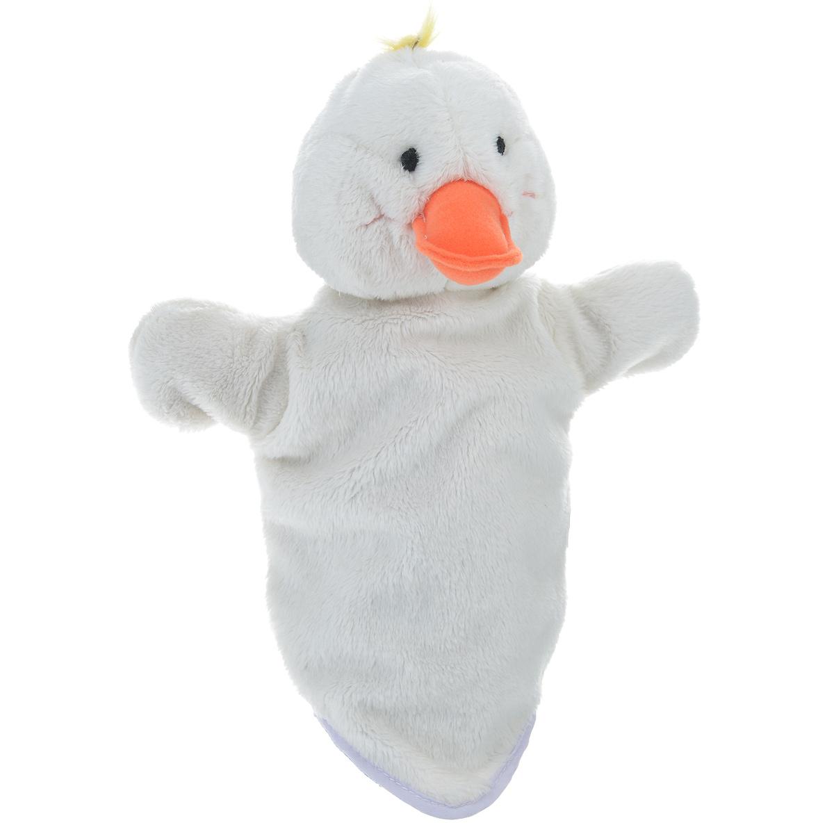 Мягкая игрушка на руку Утенок, 29 см16019Мягкая игрушка на руку Утенок непременно привлечет внимание малыша. Она легко надевается как на детскую руку, так и на взрослую. Игрушка удивительно мягкая и приятная на ощупь. Компания Bauer создала оригинальную серию персонажей, позволяющих собрать свой собственный кукольный театр. Ребенок сам сможет придумывать сценки, надевать кукол на руки, и ставить домашние кукольные спектакли. Таким образом, развивается фантазия ребенка, память, воображение, чувство юмора, умение анализировать ситуации - вымышленные или реальные, инсценированные.