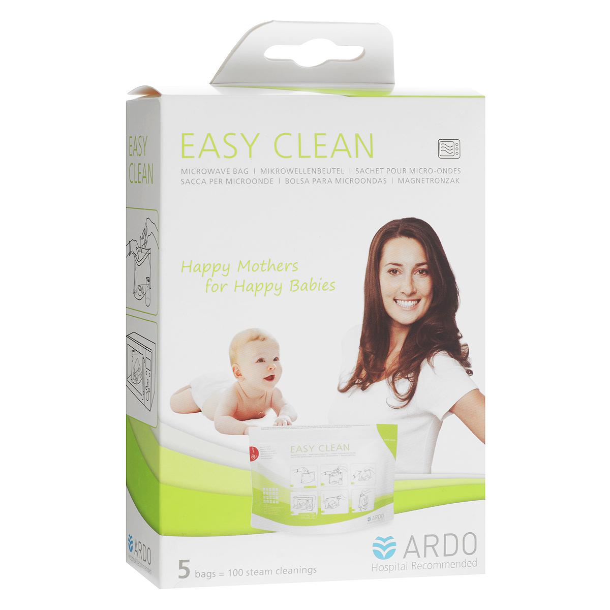 Пакеты для стерилизации и хранения Ardo Medical Easy Clean, 5 шт63.00.186Пакеты Easy Clean от компании Ardo эффективно убивают бактерии и микробы на 99,9%. Достаточно всего пары минут для полной стерилизации - экономия времени и электроэнергии. Пакеты имеют пароотводный клапан, который защитит вас от паровых ожогов при открытии пакета Компактные, простые и безопасные в использовании. Храните стерилизованный комплект в закрытом пакете до времени использования. Пакет откройте только перед использованием. В упаковке 5 пакетов (1 упаковки хватает на 100 применений).