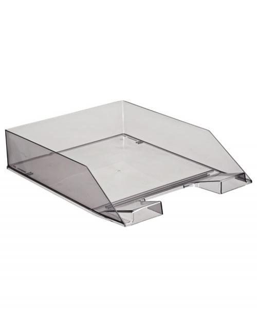 Лоток для бумаг горизонтальный Стамм Каскад, прозрачный, цвет: серый. ЛТ854ЛТ854Горизонтальный лоток для бумаг Стамм Каскад предназначен для хранения бумаг и документов формата А4. Лоток с оригинальным дизайном корпуса поможет вам навести порядок на столе и сэкономить пространство. Лоток изготовлен из прочного пластика. Приподнятая фронтальная часть лотка облегчает изъятие документов из накопителя. Несколько лотков можно ставить друг на друга как строго прямо, так и со смещением. Лоток для бумаг станет незаменимым помощником для работы с бумагами дома или в офисе, а его стильный дизайн впишется в любой интерьер. Благодаря лотку для бумаг, важные бумаги и документы всегда будут под рукой.