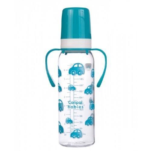 Canpol Babies Бутылочка с ручками цвет голубой 250 мл
