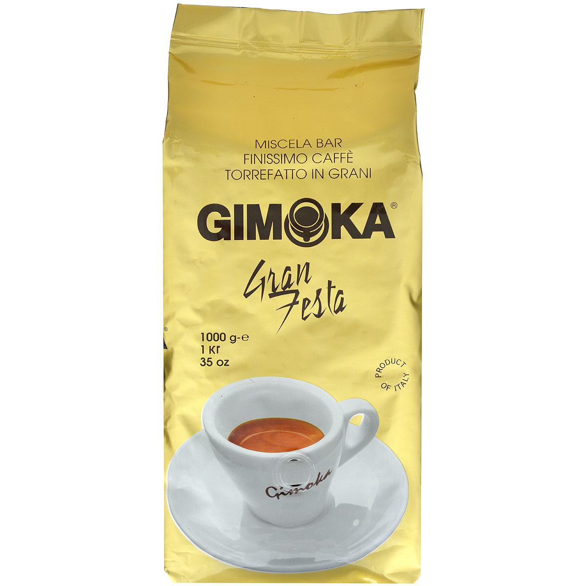 Gimoka Oro Gran Festa кофе в зернах, 1 кг8003012000046Натуральный жареный кофе в зернах Gimoka Oro Gran Festa. Классическая итальянская смесь Арабики и Робусты. Насыщенный плотный аромат средней сладости и крепости. Состав смеси: 85% арабика, 15% робуста.
