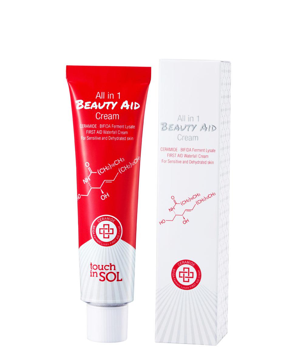 Touch in SOL Антивозрастной крем для сухой и чувствительной кожи Аll-in-one beauty AID, 75 мл (Touch in Sol)