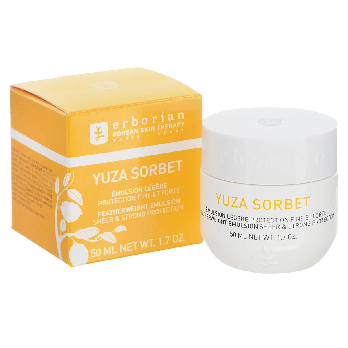 Erborian Дневной крем для лица Yuza Sorbet, увлажняющий, 50 мл783001_780246Восхитительный легкий и нежный дневной крем для лица Erborian Yuza Sorbet обеспечивает интенсивное увлажнение и создает эффект второй кожи, защищая кожу от негативного воздействия окружающей среды. Ключевые преимущества: - Устраняет самые первые признаки старения кожи, - Возрождает и увлажняет кожу, наполняя ее жизненной энергией, - Делает кожу сияющей, а ее цвет ярким, - Богат витамином С, борется с усталостью кожи, - Лакрица - сверхмощный антиоксидант, - Зеленая слива активирует микроциркуляцию, выводит токсины и стимулирует обновление клеток. Товар сертифицирован.