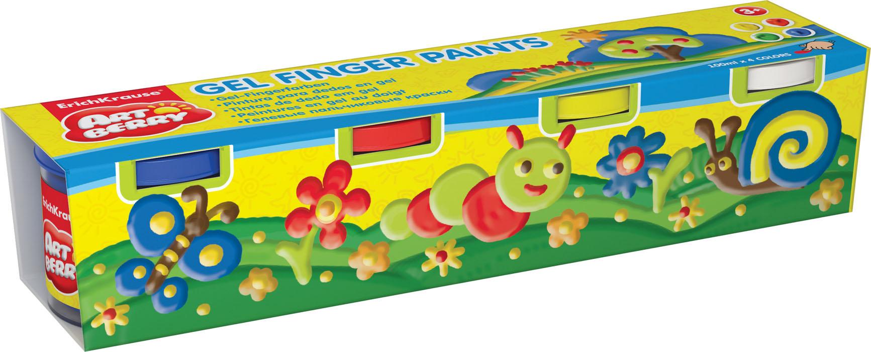 Пальчиковые краски Artberry 4 бан/100мл карт/рукав