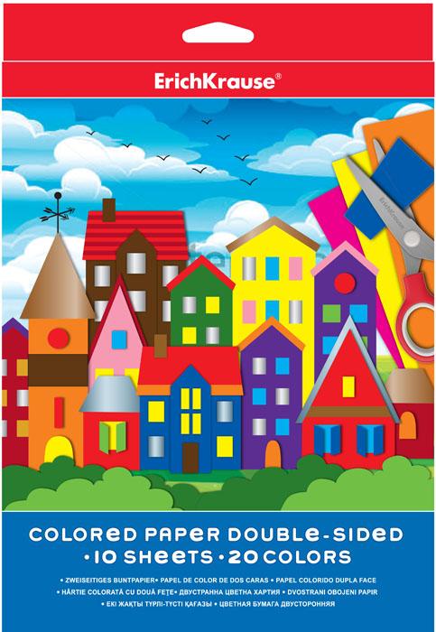 Цветная бумага Erich Krause, двусторонняя, формат А4, 20 цветов37194Набор цветной двусторонней бумаги Erich Krause идеально подойдет для занятий в детском саду, школе и дома. Большой выбор ярких, насыщенных цветов расширит возможности для создания аппликаций, объемных поделок и открыток. Рекомендуемый возраст: 3+.