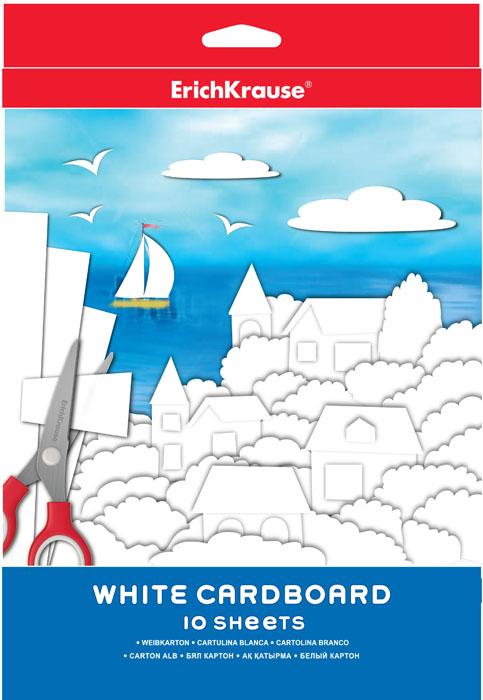 Набор белого картона Erich Krause, 10 листовЕК 37204Набор картона Erich Krause - это качественный, замечательный набор для детского творчества, который состоит из 10 листов белого картона. Набор позволит создавать всевозможные аппликации и поделки. Создание поделок из картона позволяет ребенку развивать творческие способности, кроме того, это увлекательный досуг.