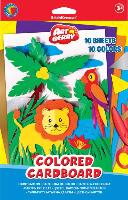 Цветной картон Erich Krause Artberry, формат В5, 10 цветов37211Набор цветного картона Erich Krause Artberry идеально подойдет для занятий в детском саду, школе и дома. Большой выбор ярких, насыщенных цветов расширит возможности для создания аппликаций, объемных поделок и открыток. Рекомендуемый возраст: 3+.
