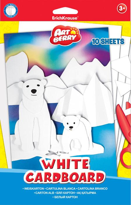 Набор белого картона Erich Krause Artberry, 10 листовЕК 37216Набор картона Erich Krause Artberry - это качественный, замечательный набор для детского творчества, который состоит из 10 листов белого картона. Набор позволит создавать всевозможные аппликации и поделки. Создание поделок из картона позволяет ребенку развивать творческие способности, кроме того, это увлекательный досуг.