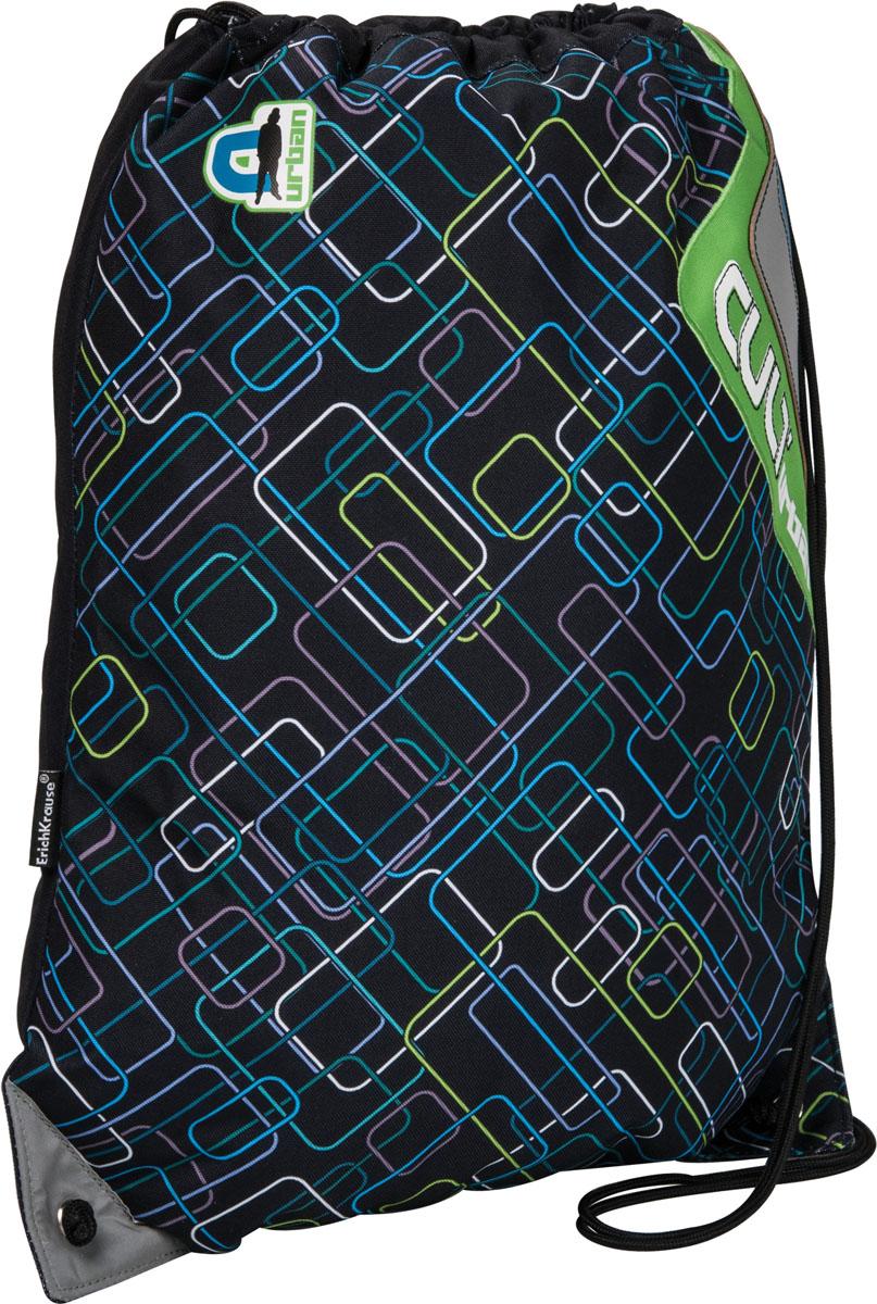Сумка для сменной обуви Erich Krause Urban, цвет: черный37236Сумку Erich Krause Urban удобно использовать как для хранения, так и для переноски сменной обуви. Сумка выполнена из высококачественного прочного полиэстера и оформлена принтом в виде разноцветных прямоугольников. Сумка затягивается сверху при помощи текстильных шнурков. Шнурки фиксируются в нижней части сумки, благодаря чему ее можно носить за спиной как рюкзак. Светоотражающие вставки на сумке не оставят вашего ребенка незамеченным в темное время суток. Рекомендуемый возраст: от 7 лет.