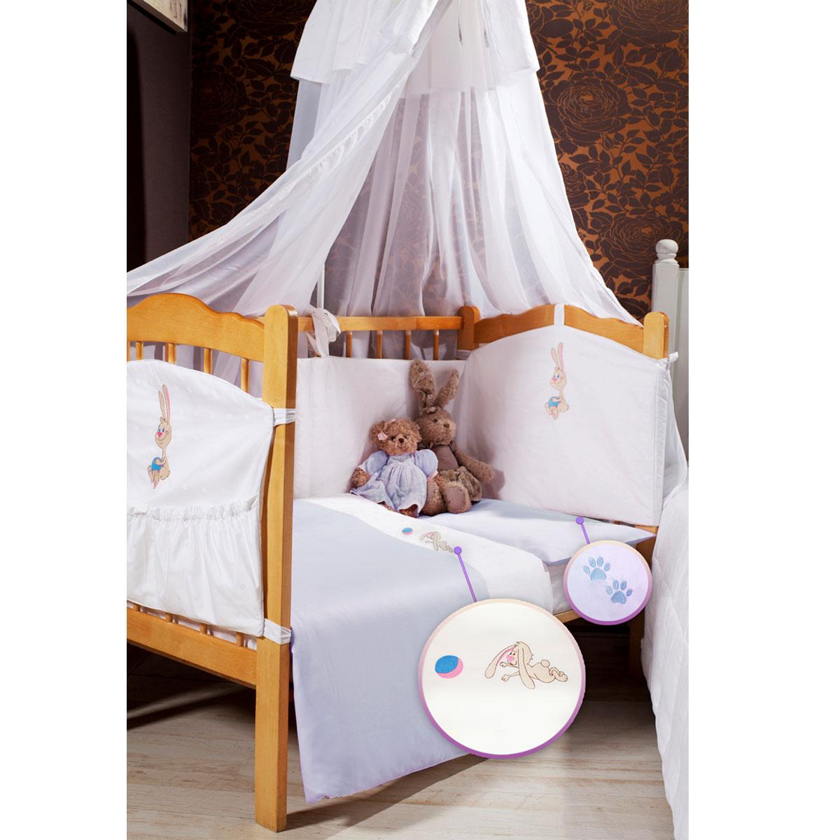 """Детское постельное белье Primavelle """"Lovely Baby"""" (ясельный спальный КПБ, хлопок, наволочка 42х62), цвет: голубой 115124231-4818в"""
