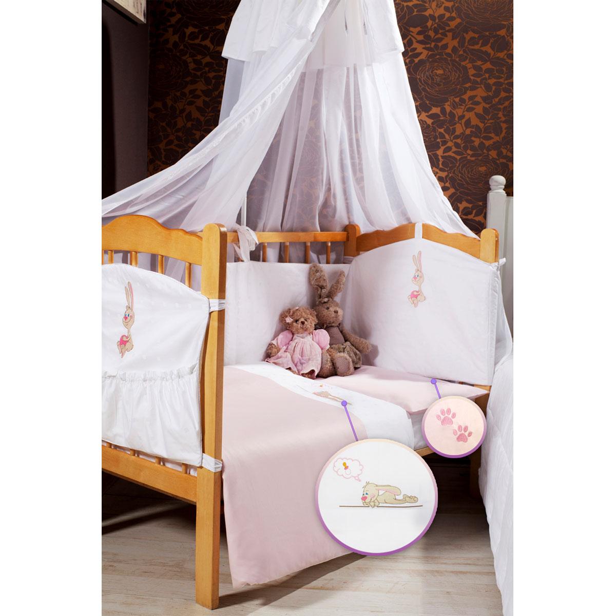 Детское постельное белье Primavelle Lovely (ясельный спальный КПБ, хлопок, наволочка 42х62), цвет: розовый
