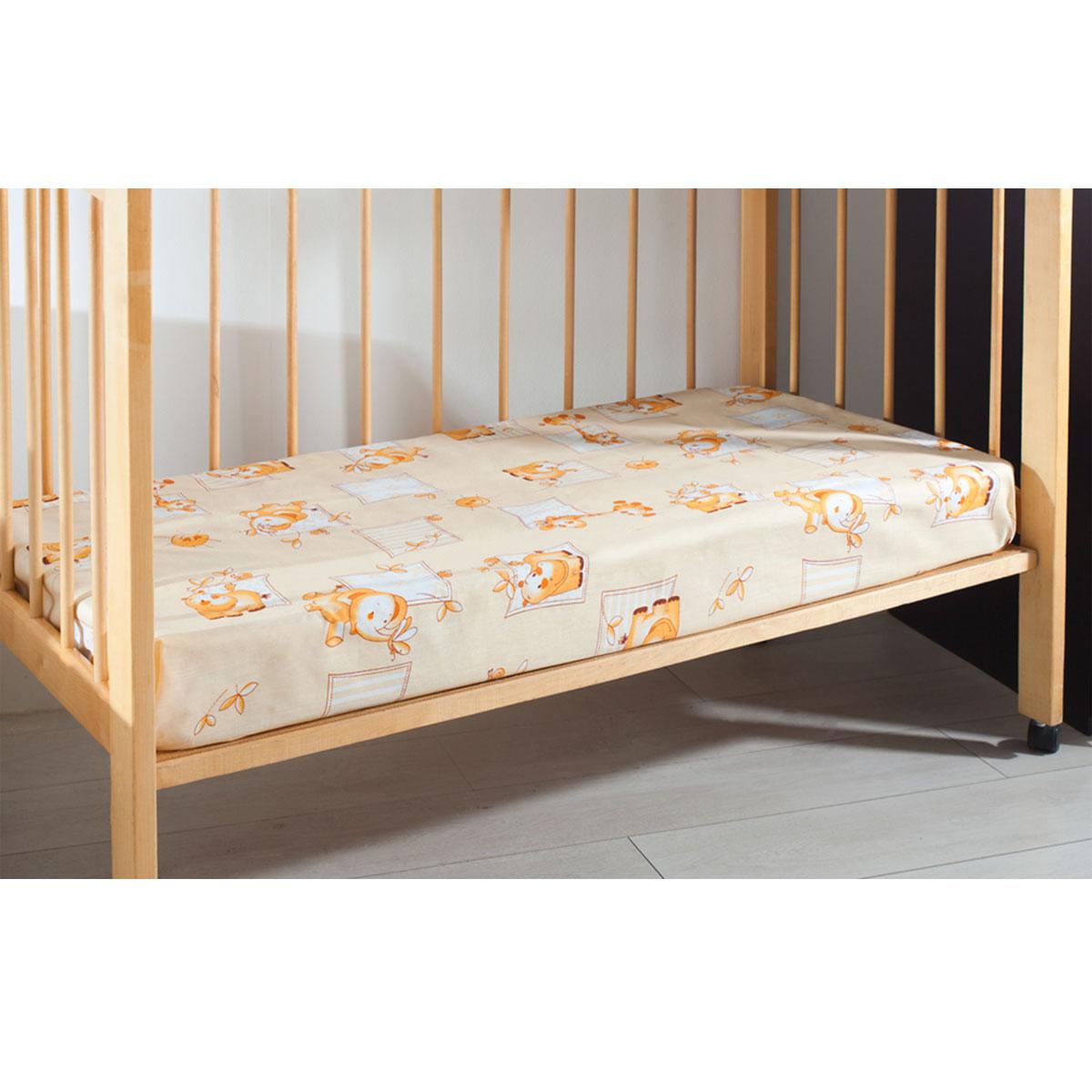 Простыня детская Primavelle, цвет: бежевый, 120 см х 180 см11461210-10Мягкая простыня на резинке Primavelle идеально подойдет для кроватки вашего малыша и обеспечит ему здоровый сон. Она изготовлена из натурального 100% хлопка, дарящего малышу непревзойденную мягкость. Подарите вашему малышу комфорт и удобство!