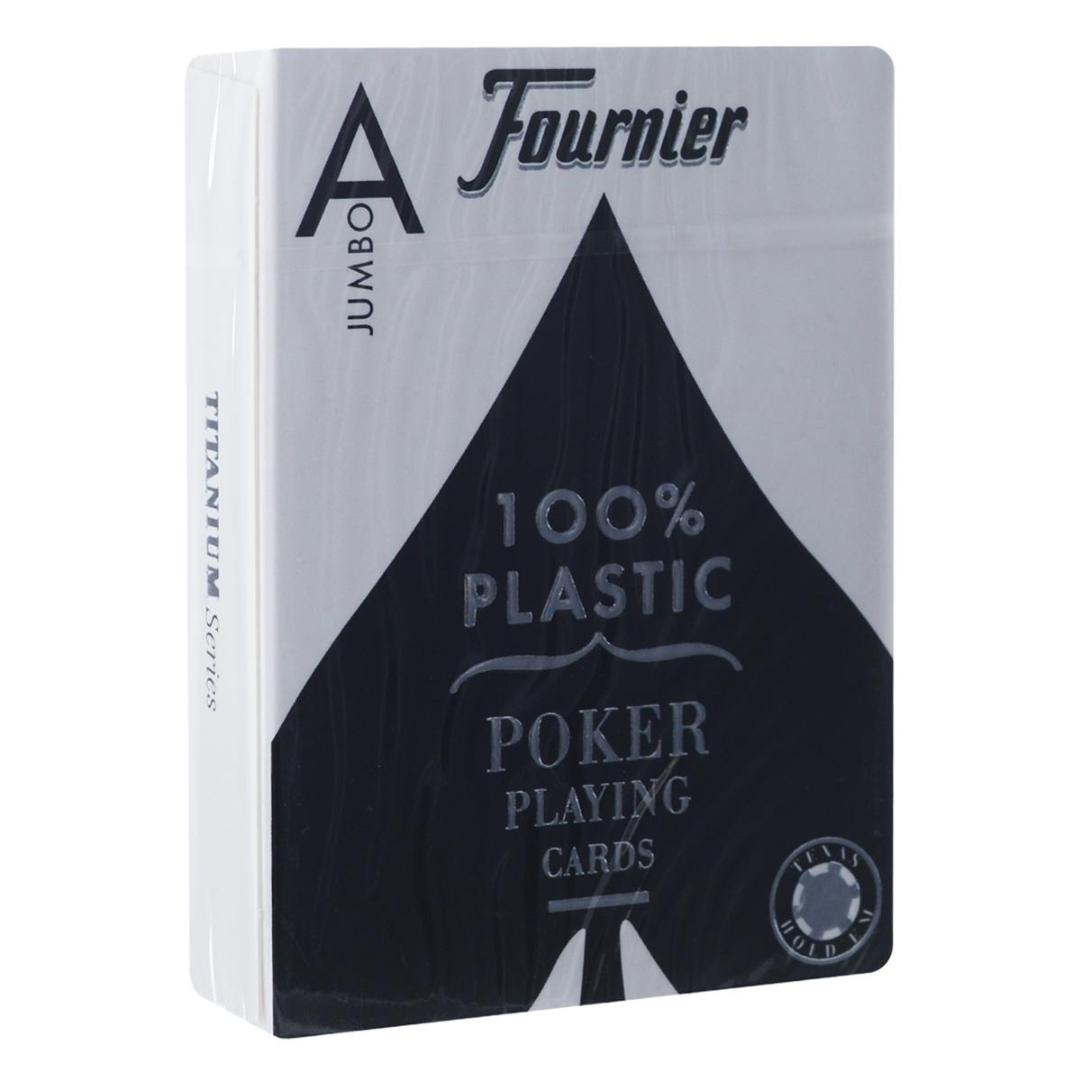 Карты игральные Fournier № 2800 Jumbo, крупный индекс, цвет: синий, 54 штFOURNIER_2800_BLUE