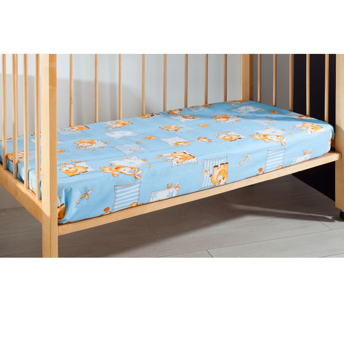 Простыня детская Primavelle, цвет: голубой, 120 см х 180 см11461210-18Мягкая простыня на резинке Primavelle идеально подойдет для кроватки вашего малыша и обеспечит ему здоровый сон. Она изготовлена из натурального 100% хлопка, дарящего малышу непревзойденную мягкость. Подарите вашему малышу комфорт и удобство!