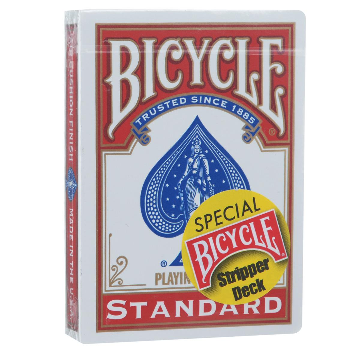 Карты для фокусов Bicycle Stripper Deck, цвет: красный, 54 карты9121