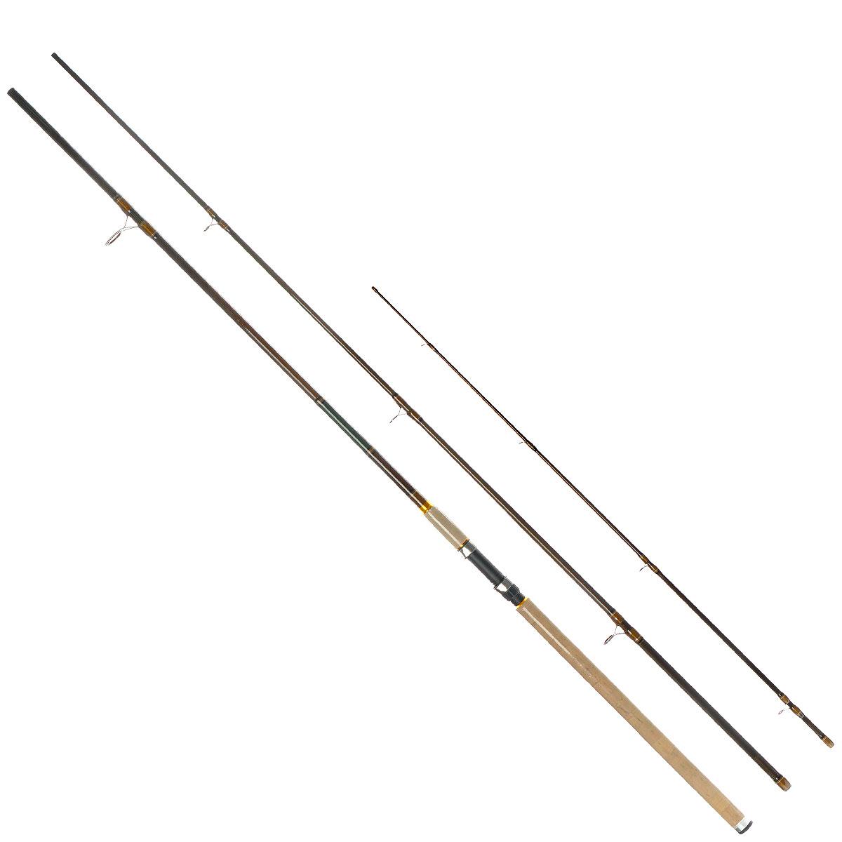 Удилище фидерное Daiwa Procaster Light Feeder, 3,9 м, до 120 г31556Фидерное удилище Daiwa Procaster Light Feeder предназначено для ловли рыбы в стоячей воде или в водоемах с небольшим течением. Рукоятка выполнена из высококачественной пробки, что обеспечивает малый вес. Кольца изготовлены из оксида алюминия. Бланки из высокомодульного графита обеспечивают высокую чувствительность и мощность. В комплекте 3 сменные вершинки. Поставляется в чехле для переноски и хранения. Тест: до 120 г.