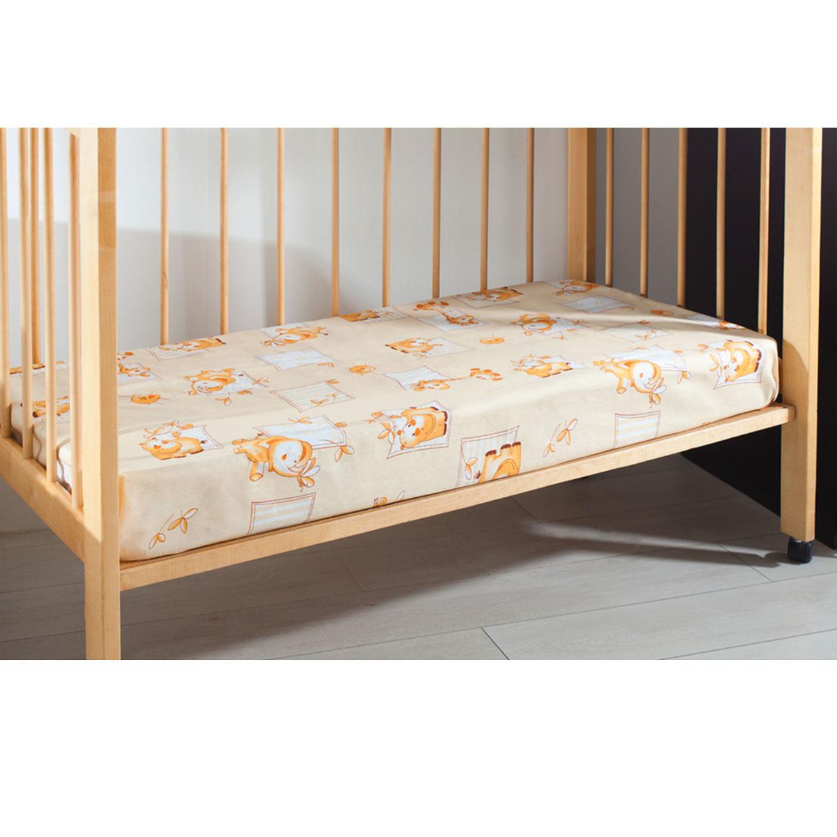 Простыня на резинке детская Primavelle, цвет: бежевый, 60 см х 120 см х 20 см114612110-10Мягкая простыня на резинке Primavelle идеально подойдет для кроватки вашего малыша и обеспечит ему здоровый сон. Она изготовлена из натурального 100% хлопка, дарящего малышу непревзойденную мягкость. Простыня с помощью специальной резинки растягивается на матрасе. Она не сомнется и не скомкается, как бы не вертелся ребенок. Подарите вашему малышу комфорт и удобство! Размер простыни: 60 см х 120 см х 20 см.