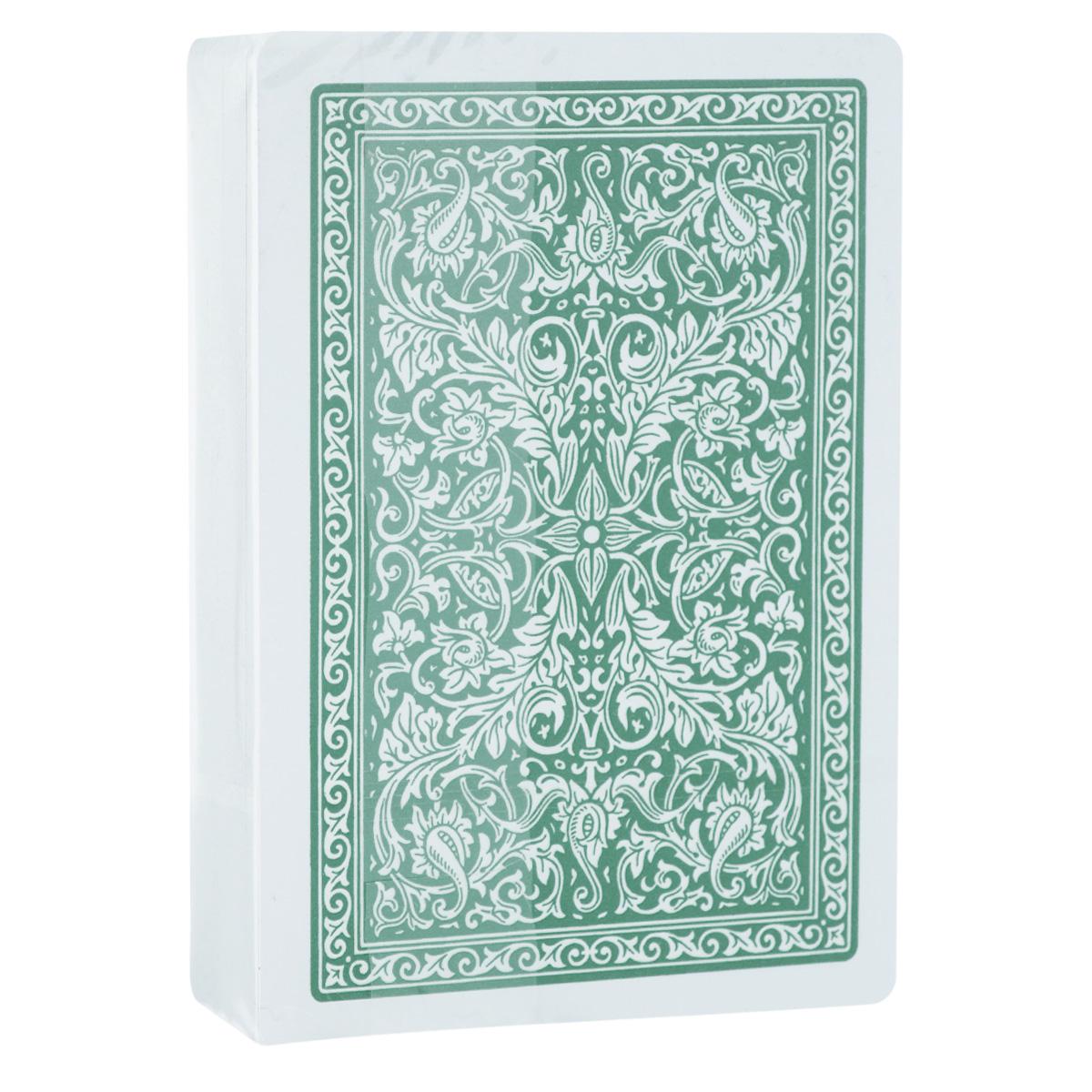Карты игральные Fournier № 2818, крупный индекс, цвет: зеленый, 54 штFOURNIER_2818_GREEN