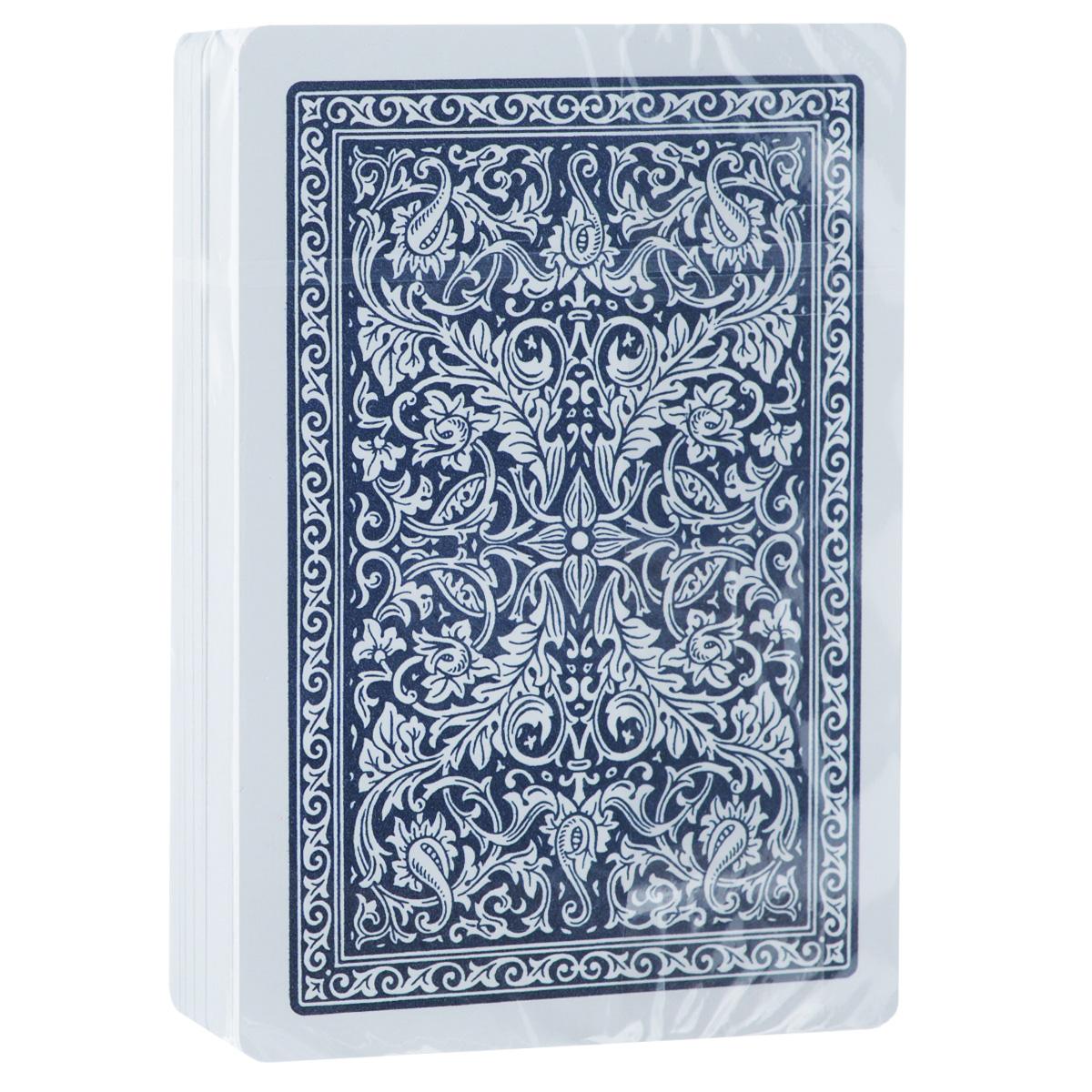 Карты игральные Fournier № 2818, крупный индекс, цвет: синий, 54 штFOURNIER_2818_BLUE