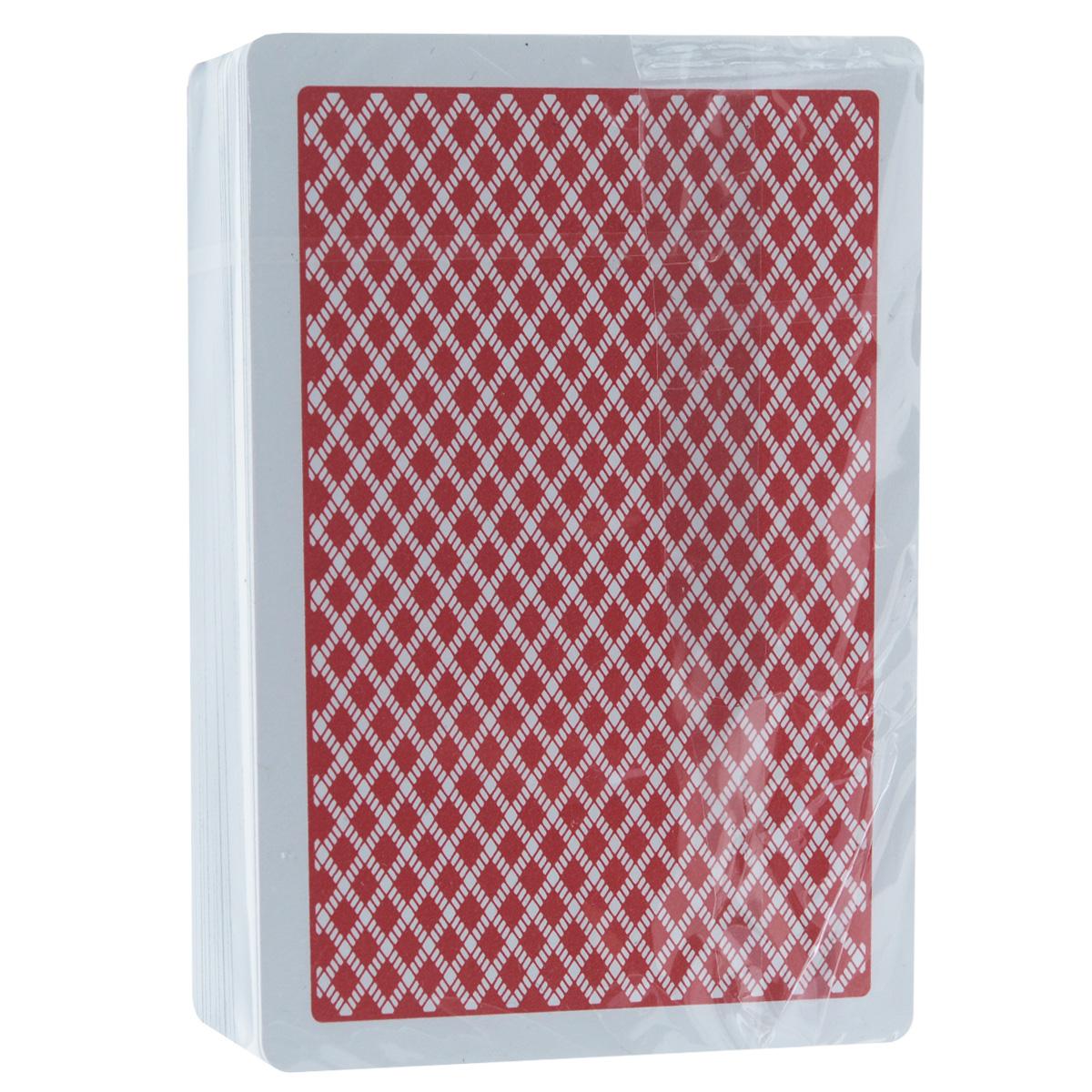 Игральные карты Bee, цвет: красный, 54 штBEE_PLASTIC_RED