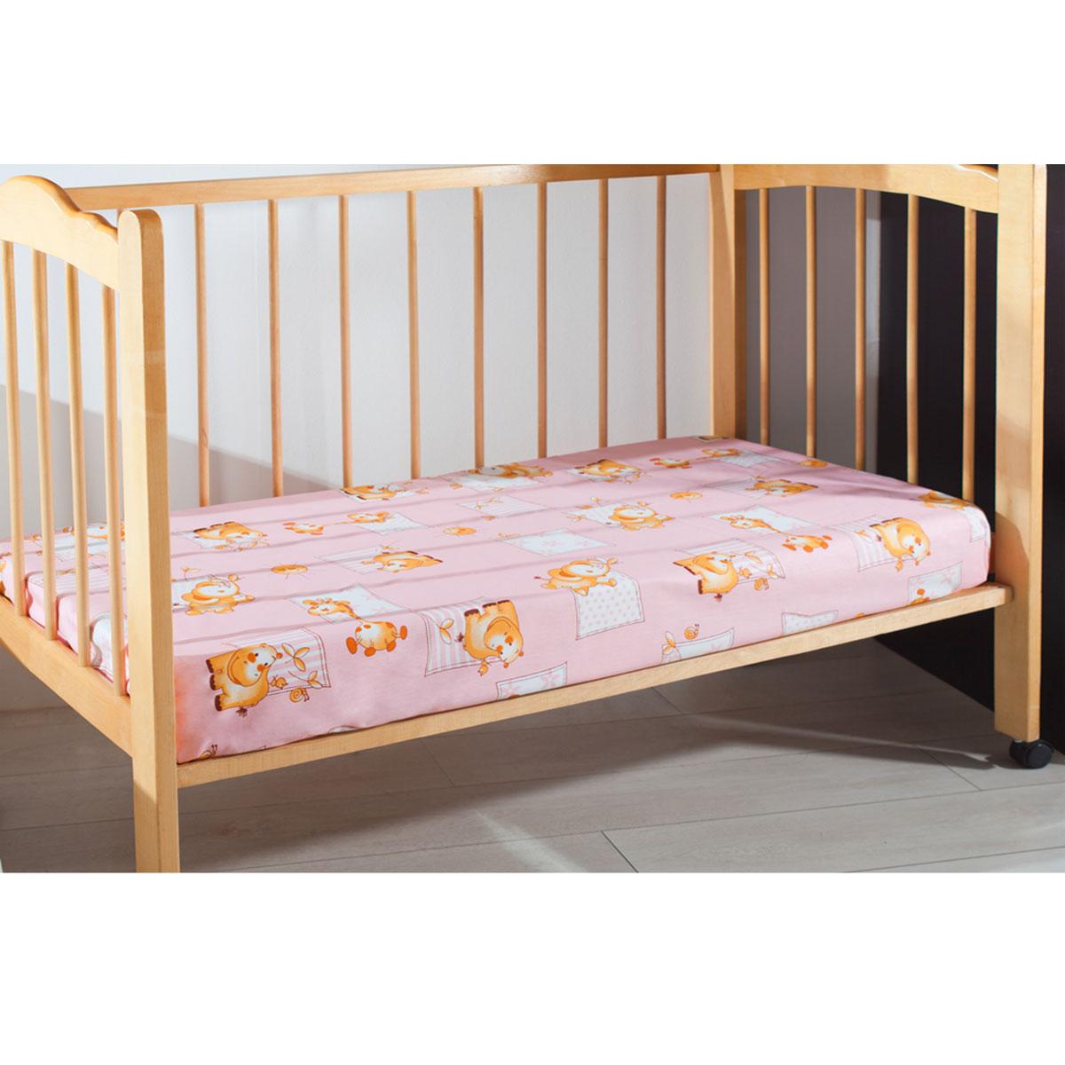 Простыня на резинке детская Primavelle, цвет: розовый, 60 см х 120 см х 20 см114612110-26Мягкая простыня на резинке Primavelle идеально подойдет для кроватки вашего малыша и обеспечит ему здоровый сон. Она изготовлена из натурального 100% хлопка, дарящего малышу непревзойденную мягкость. Простыня с помощью специальной резинки растягивается на матрасе. Она не сомнется и не скомкается, как бы не вертелся ребенок. Подарите вашему малышу комфорт и удобство! Размер простыни: 60 см х 120 см х 20 см.