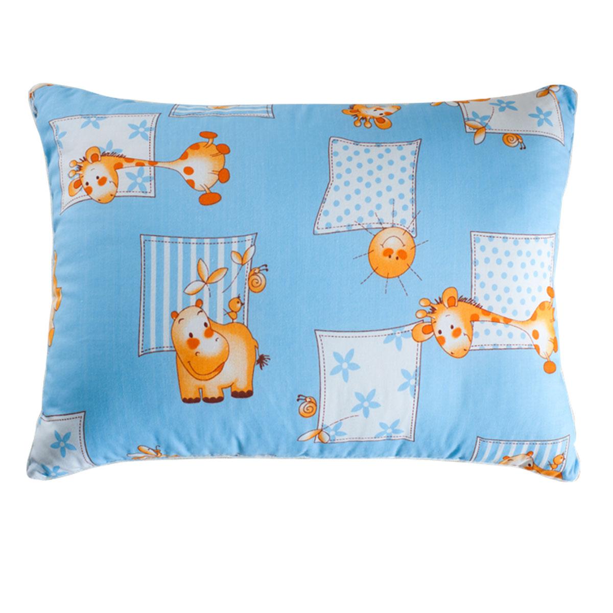 Подушка детская Подушкино Лежебока, цвет: голубой, 40 см х 60 см111012060-ХИ18П
