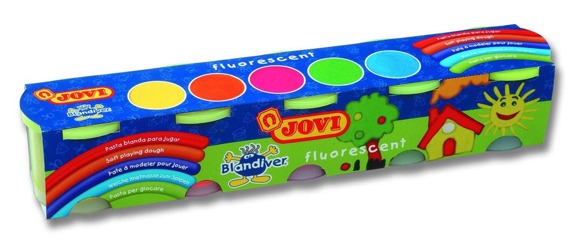Тесто для лепки Jovi Fluorescent, 5 цветов