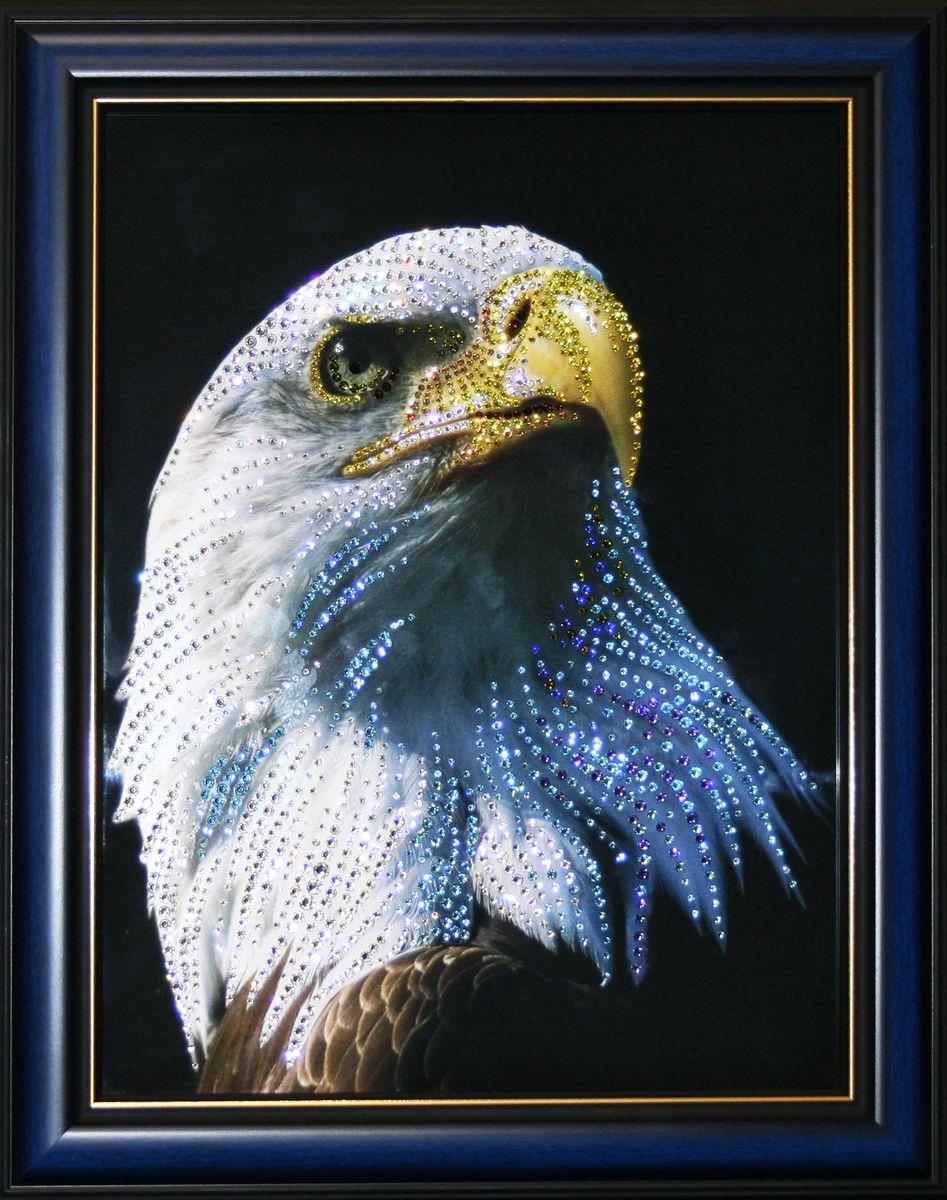 1596 Картина Сваровски ГОРДОСТЬ1596стекло, хрусталь, пластик. 38х48