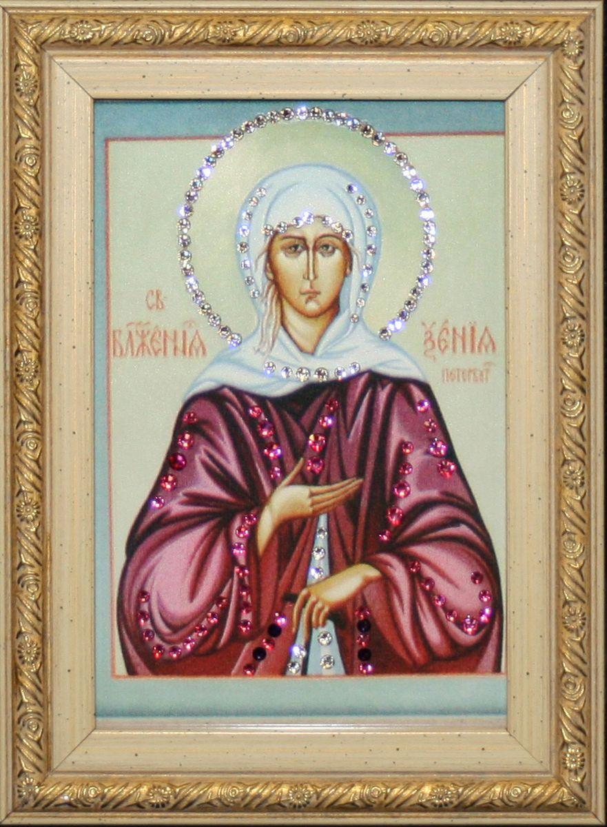 1609 Икона Ксения Петербургская1609стекло, хрусталь, алюминий. 13х18