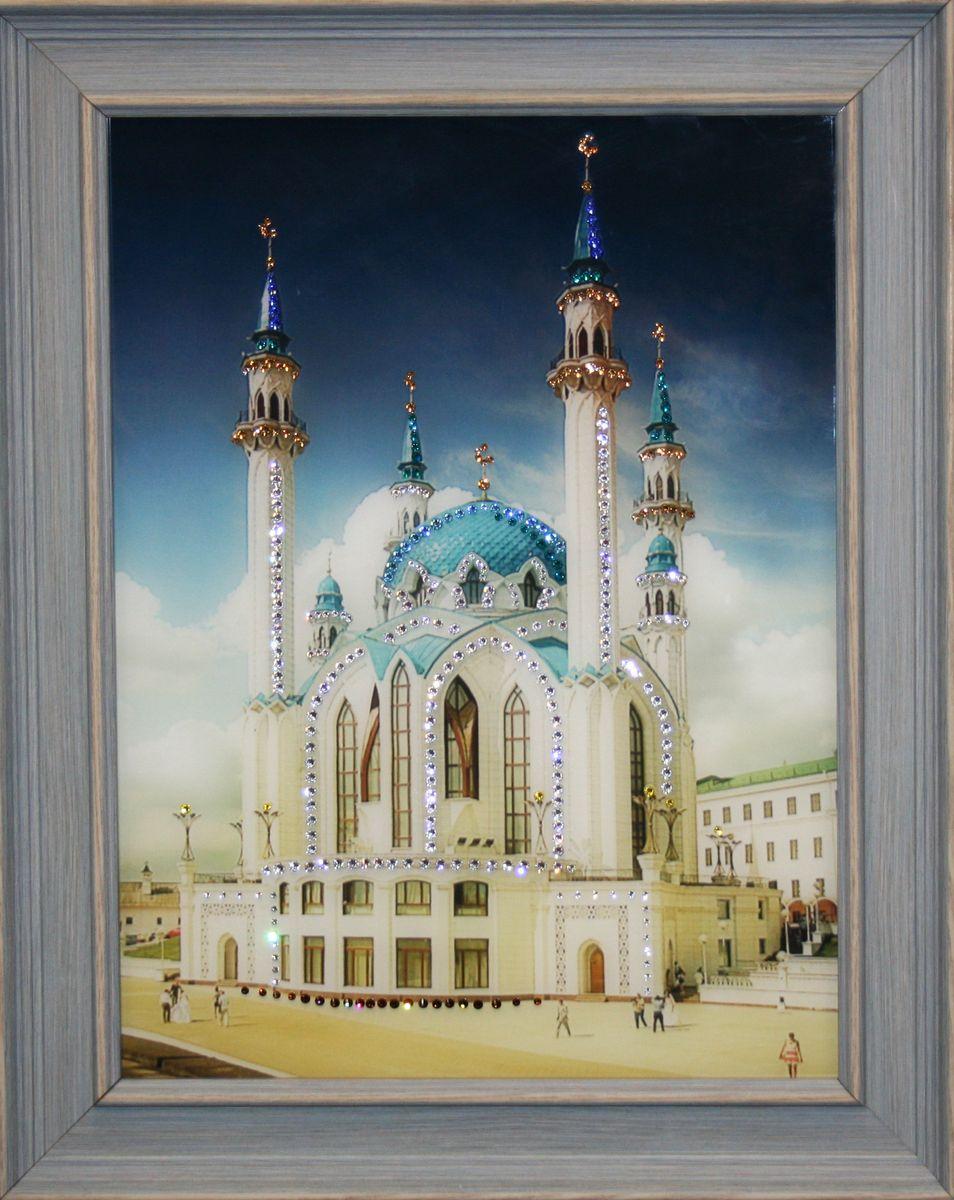 1545 Картина Сваровски Кул-Шариф1545стекло, хрусталь, алюминий. 39х49