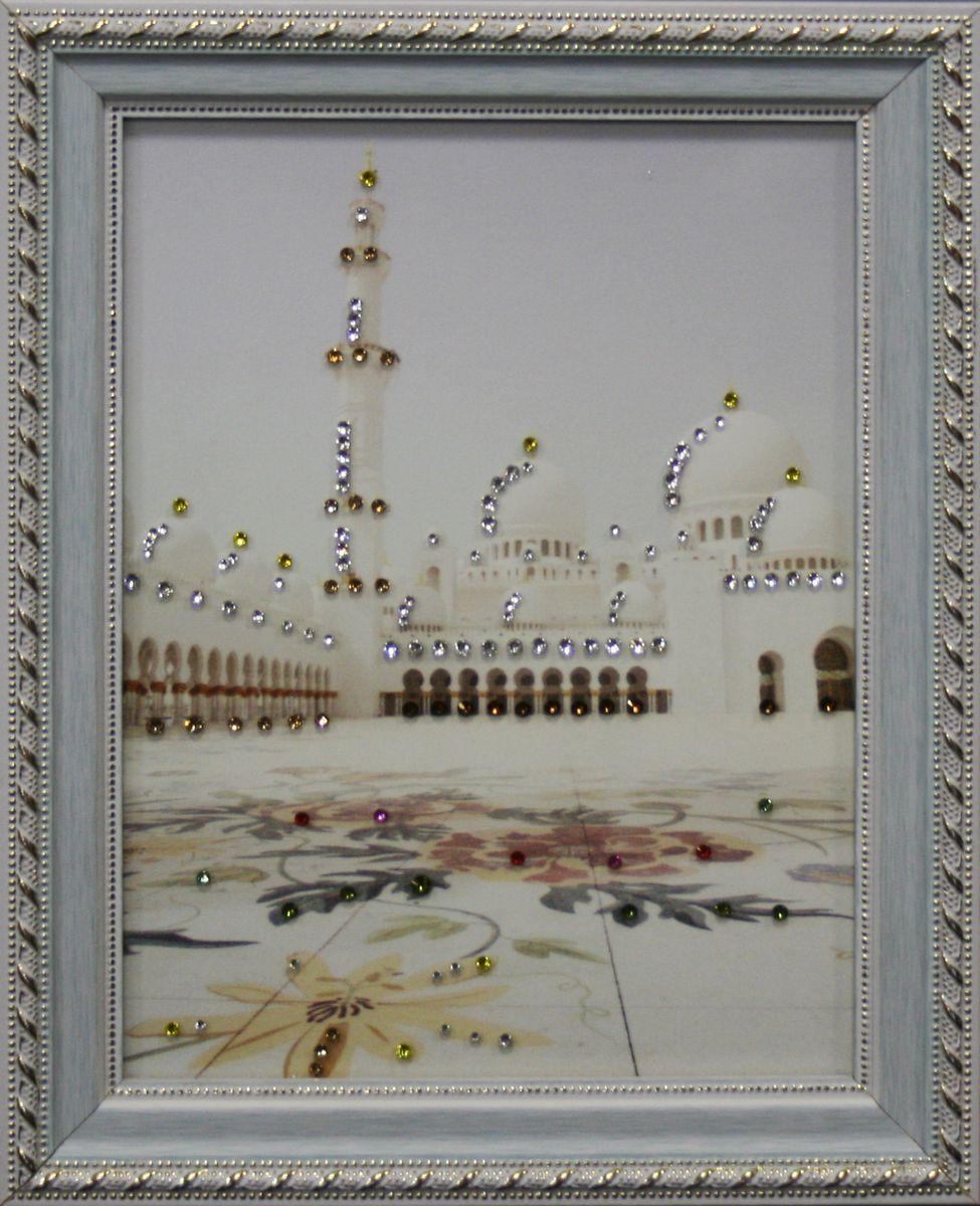 1569 Картина Сваровски ВОСТОЧНАЯ ПЛОЩАДЬ1569стекло, хрусталь, алюминий. 18,5х23,5