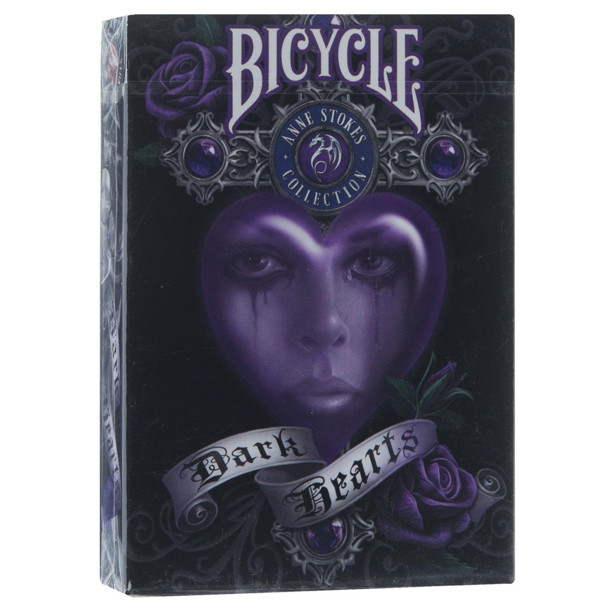 Карты игральные коллекционные Bicycle Dark Hearts, 54 картыBICYCLE_DARK_HEARTS